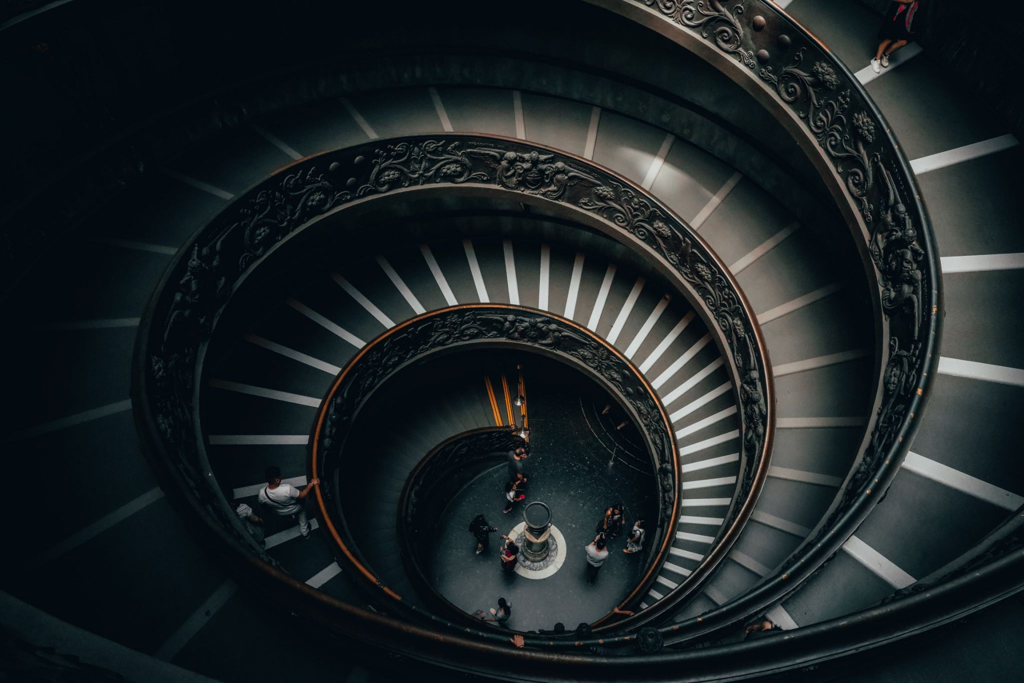 Spiral Staircase at Vatican Museum, Rome, Italy