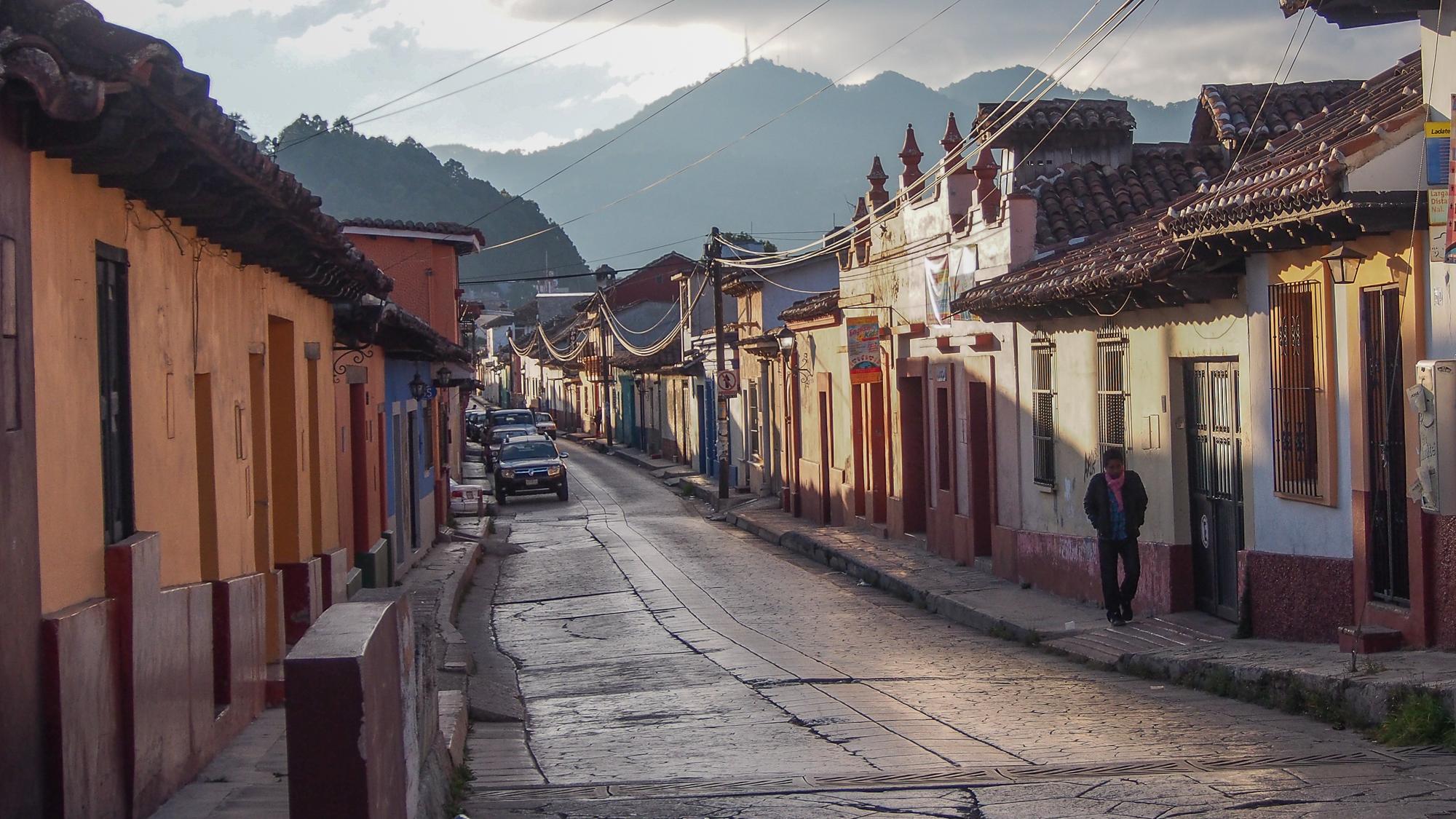 Street of San Cristóbal de las Casas, Mexico