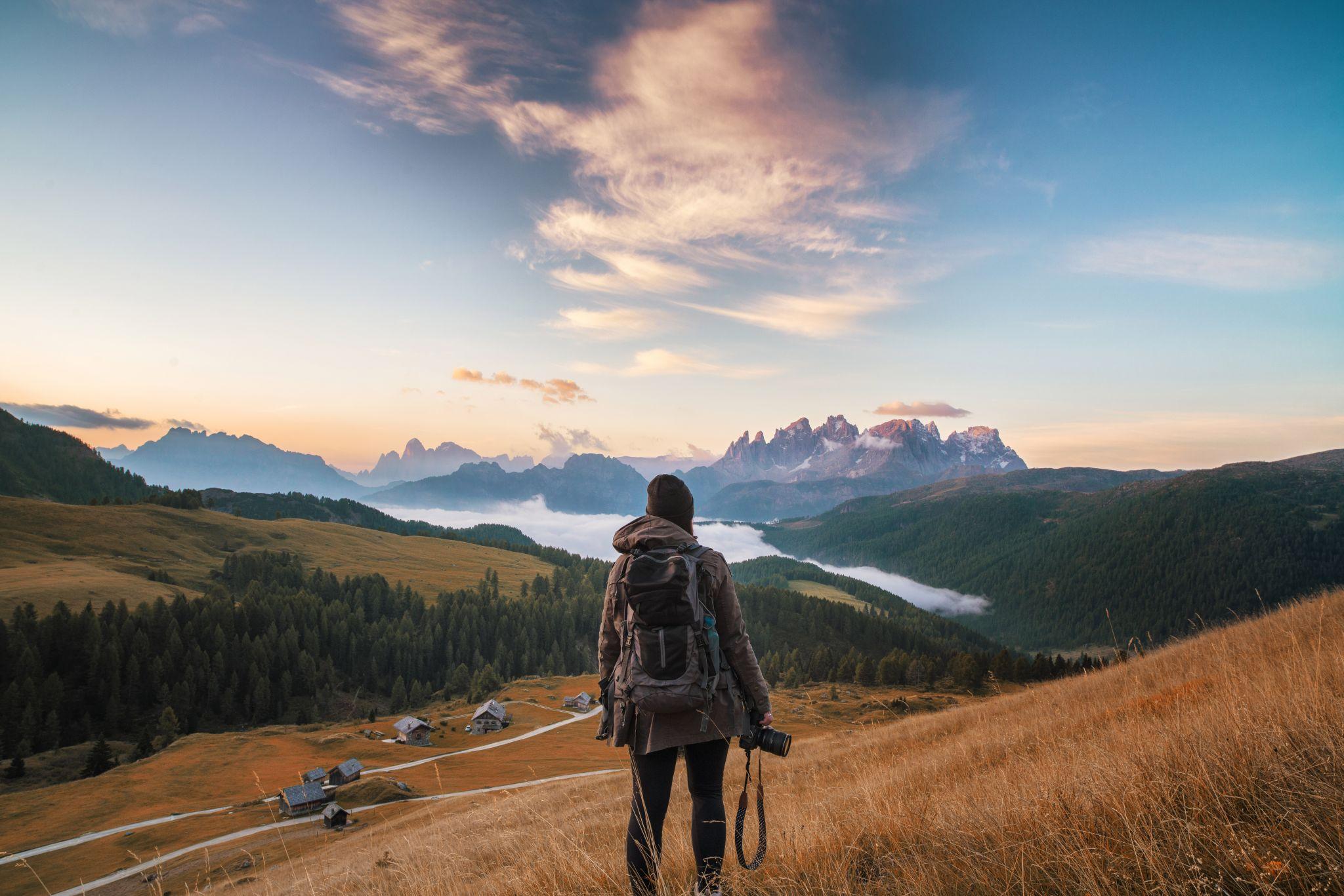 Sunrise at Passo san Pellegrino, Dolomites, Italy