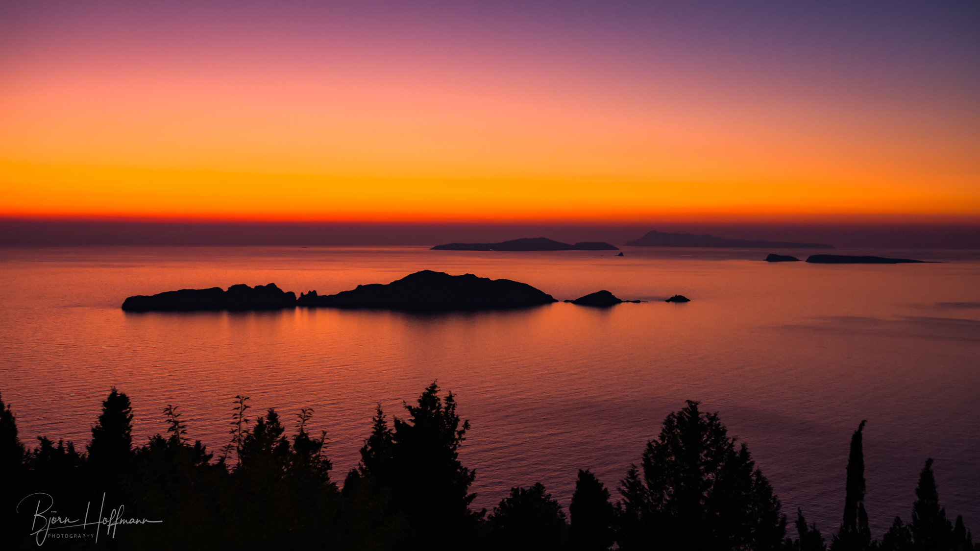 Sunset from Afionas, Corfu, Greece
