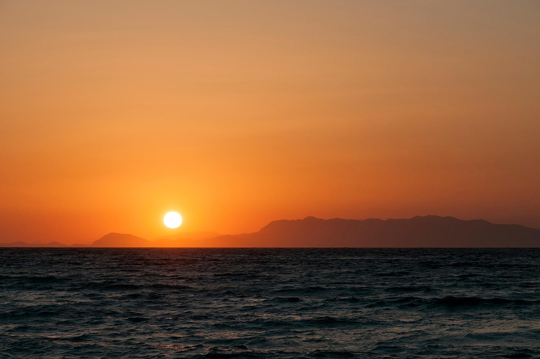 Sunset on Rhodes, Greece