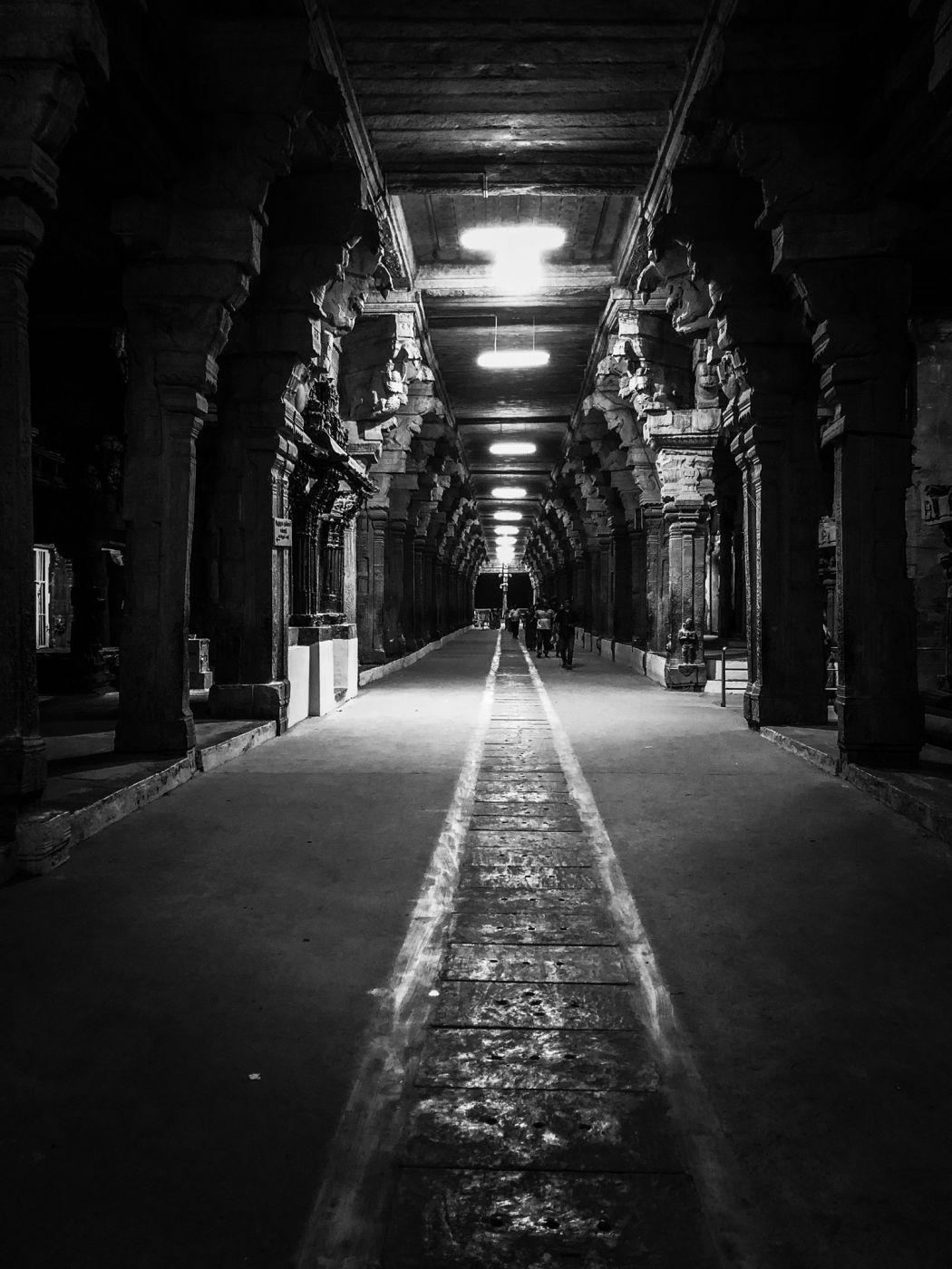 Temple corridor, India