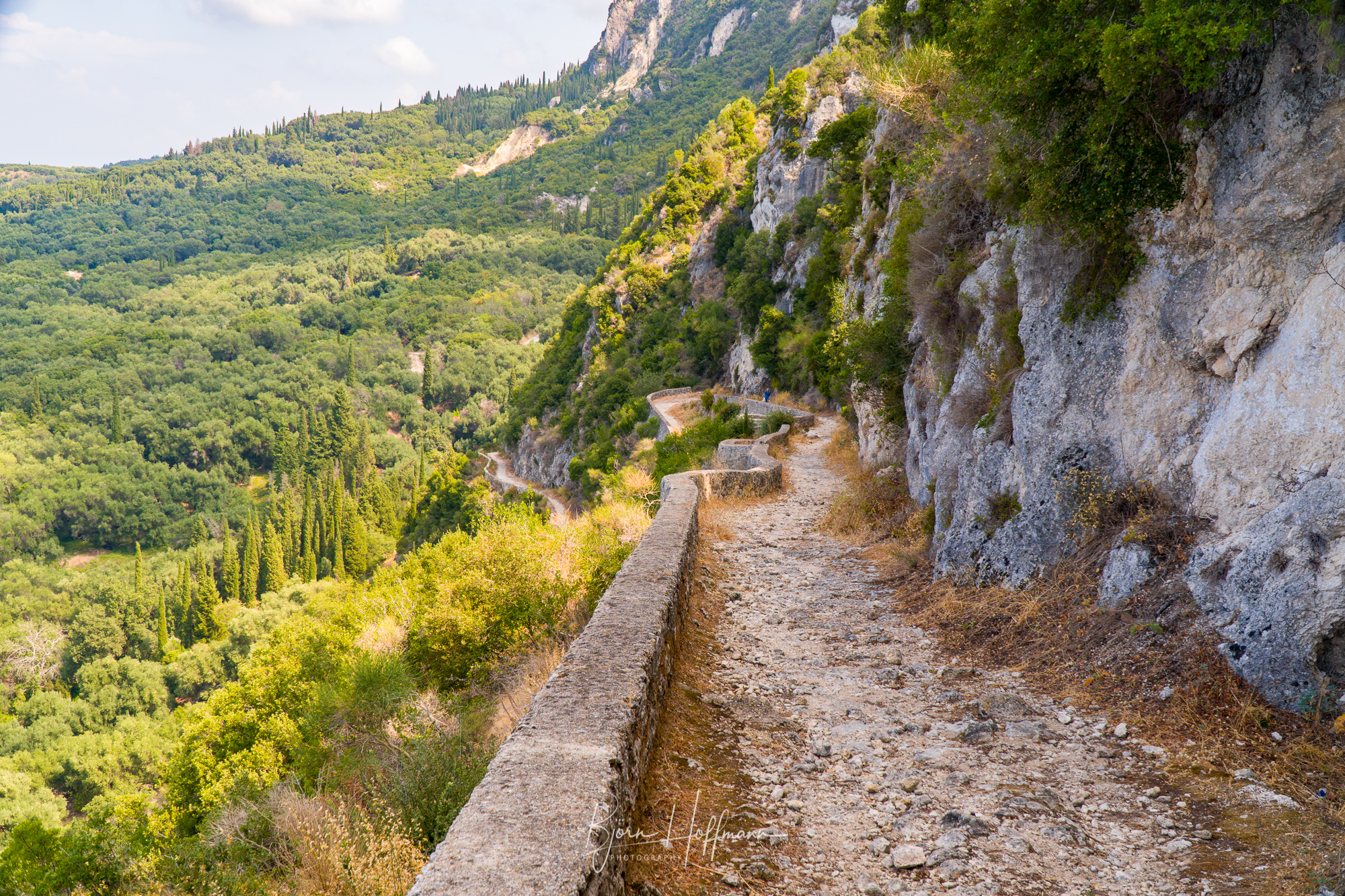 The Donkey Path between Makrades and Agios Georgios, Corfu, Greece