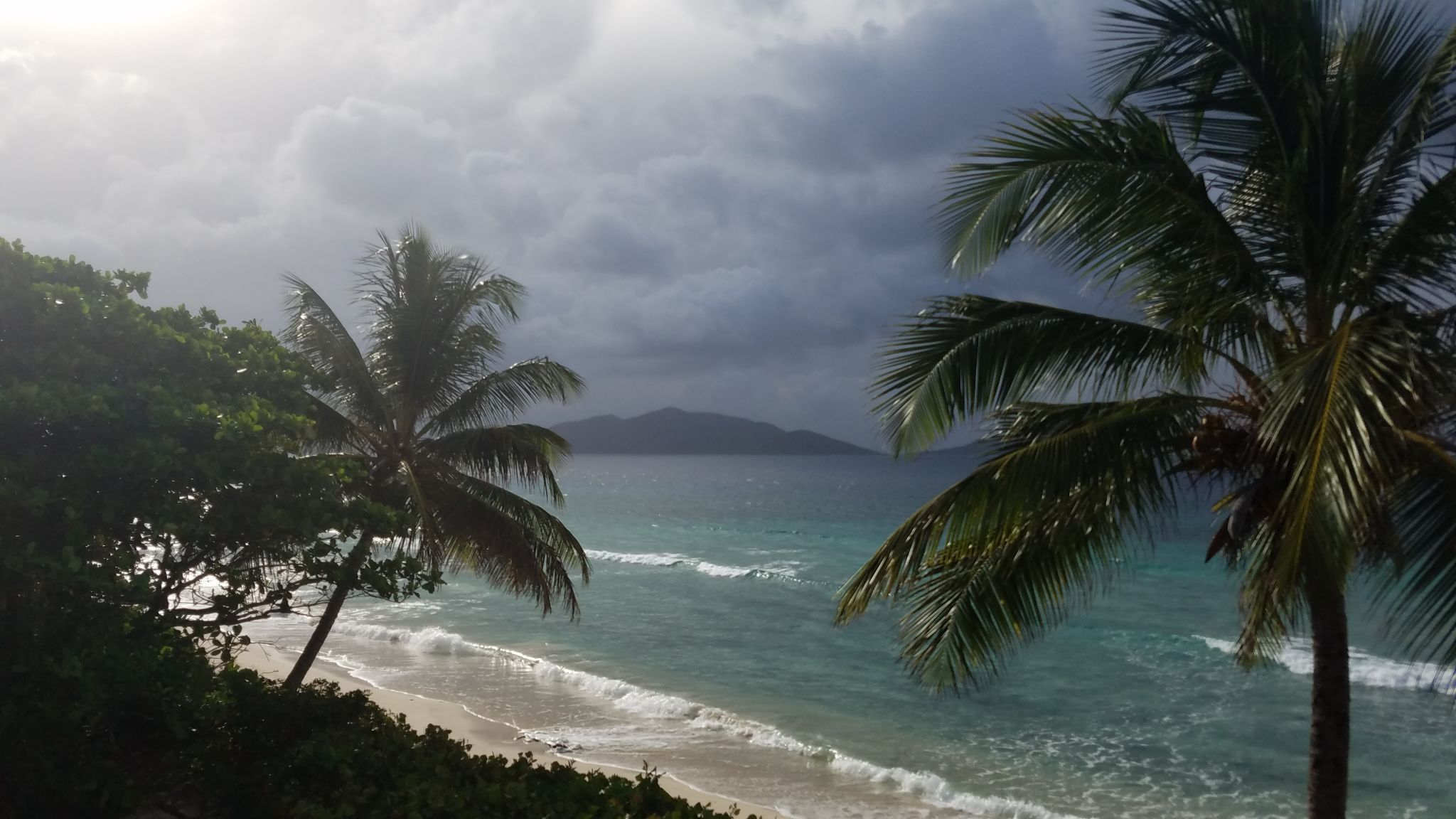 the view from Long Bay Beach Resort 2017, British Virgin Islands