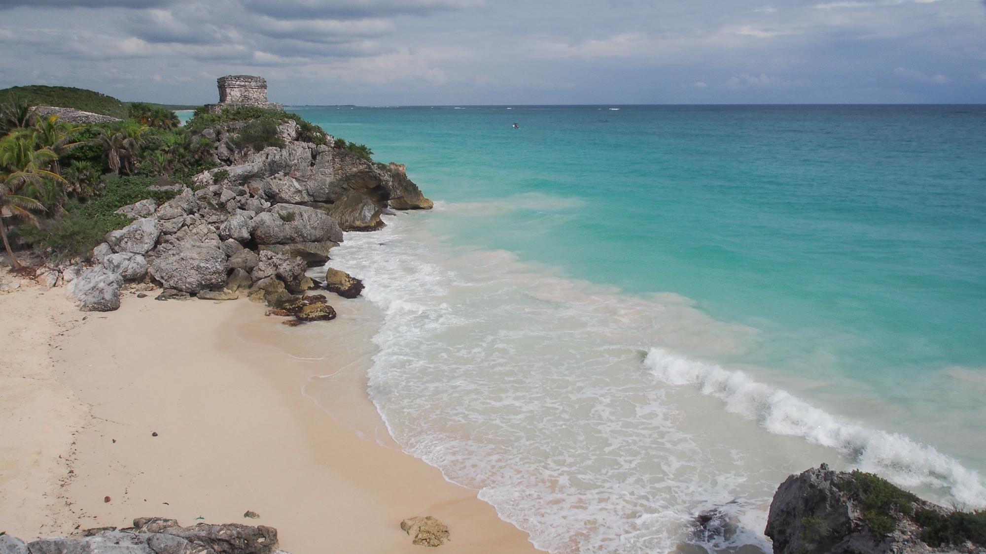 Tulum, beach and castle, Mexico