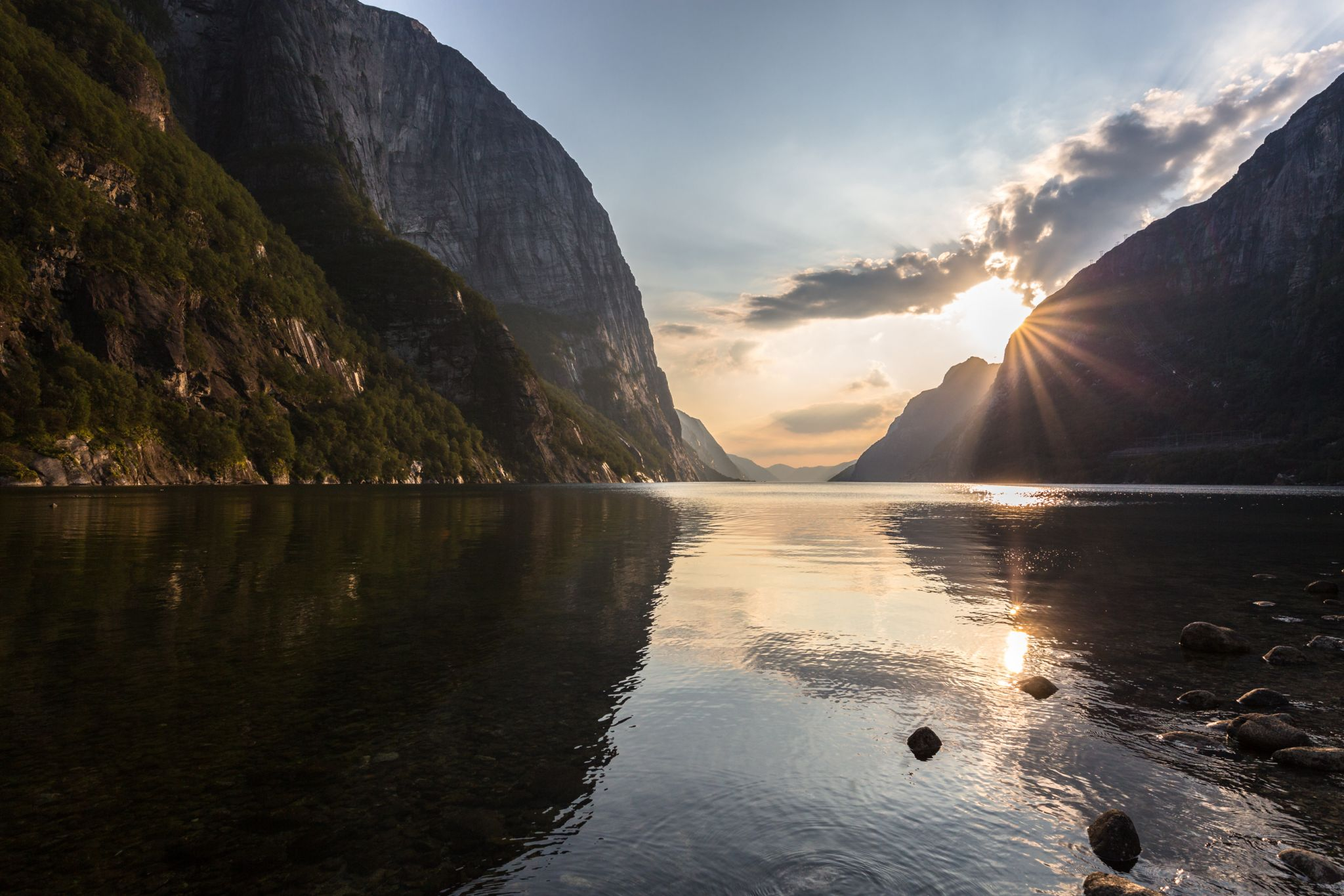 View from Lysebotn on the Lysefjord, Norway