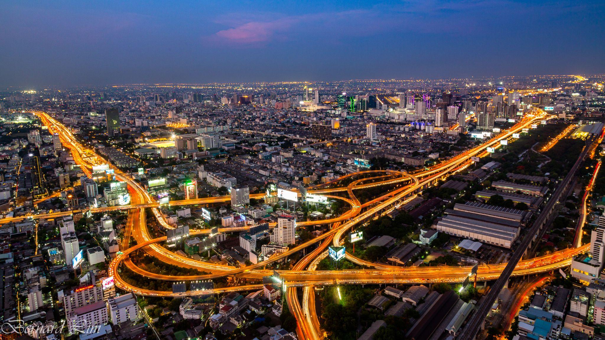 View from Sky Baiyoke Tower Bangkok, Thailand