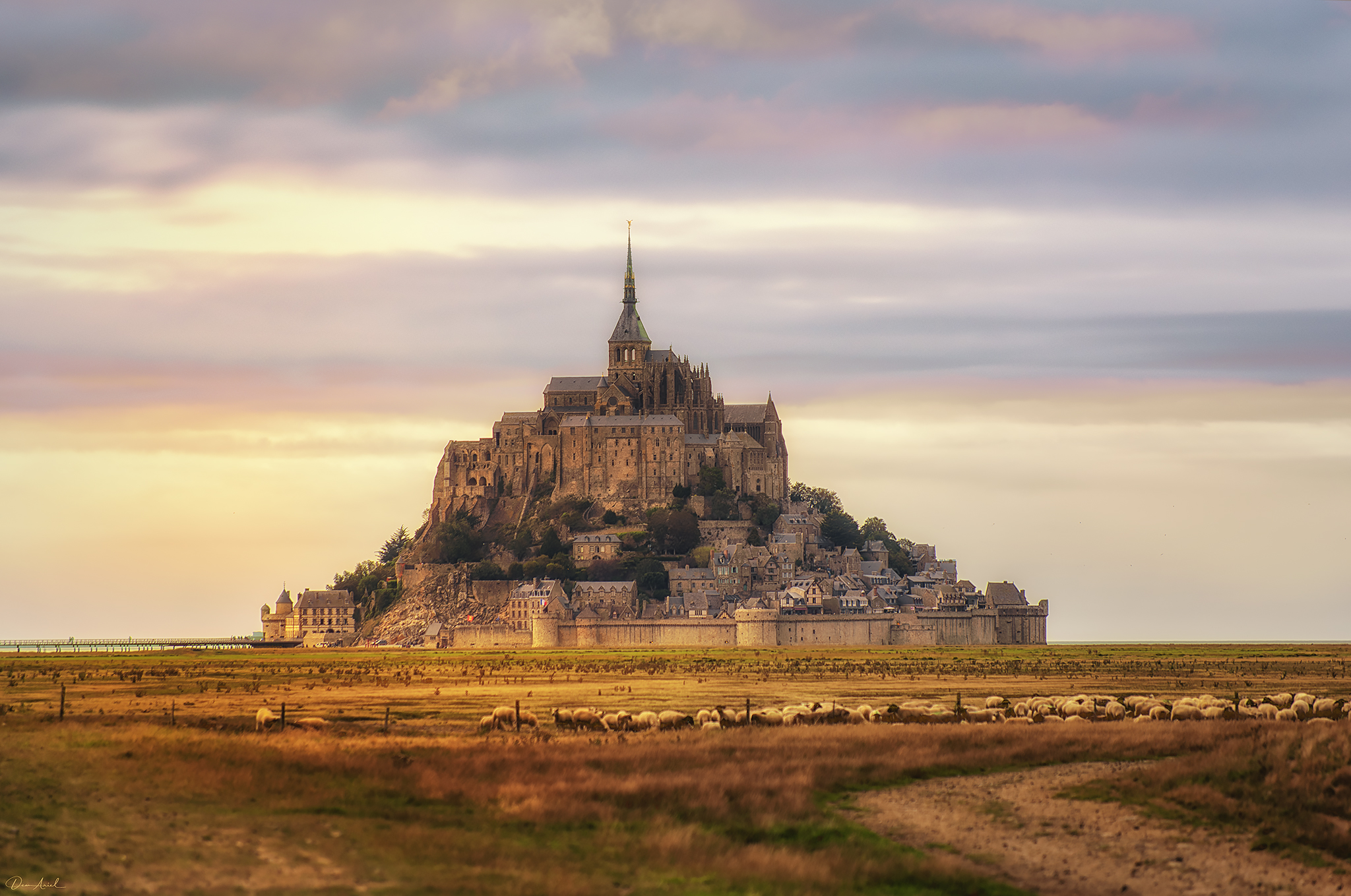View on Mont Saint Michel, France