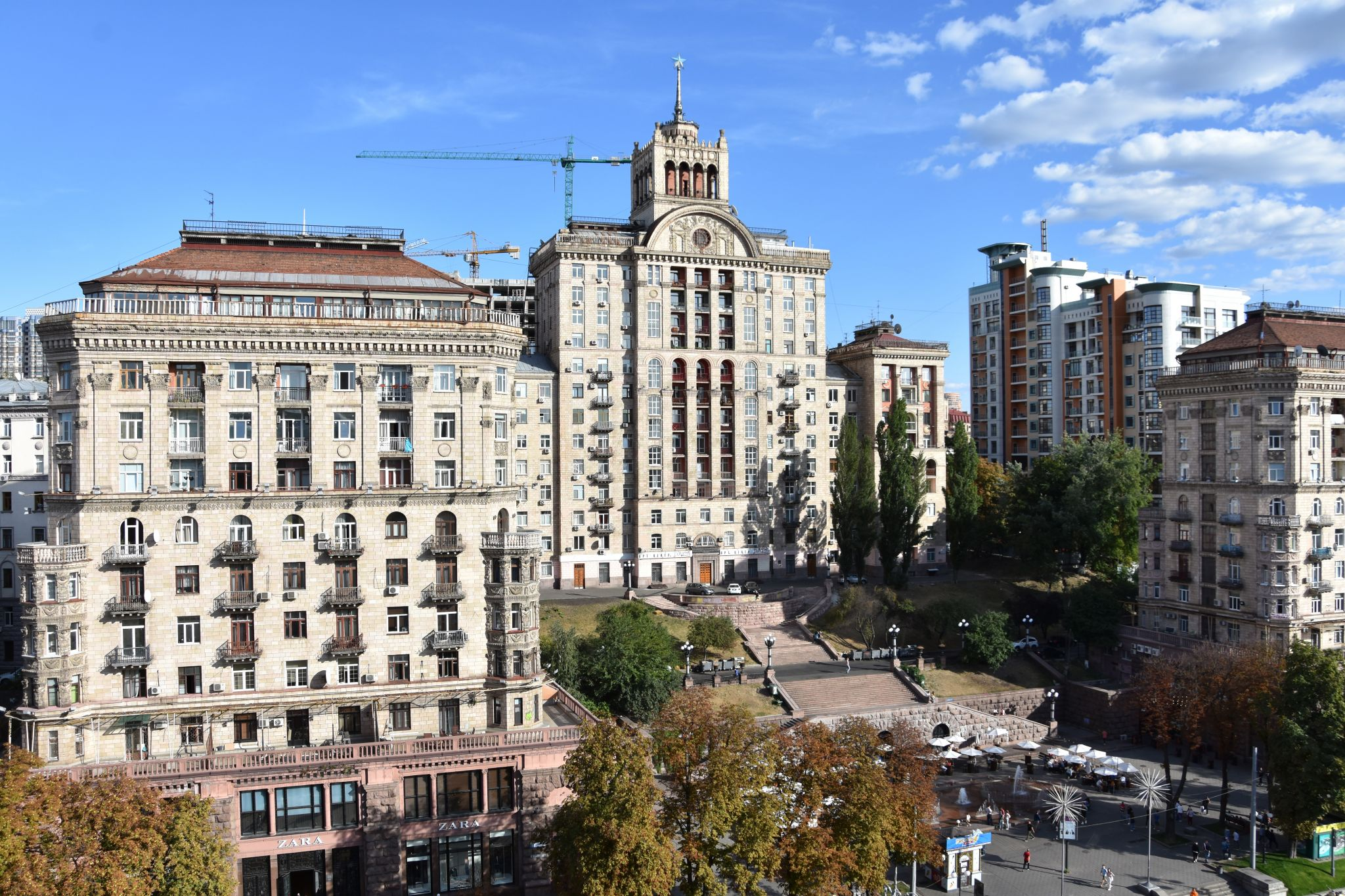 View over Khreshchatyk  Street from Tsum's Terrace, Ukraine