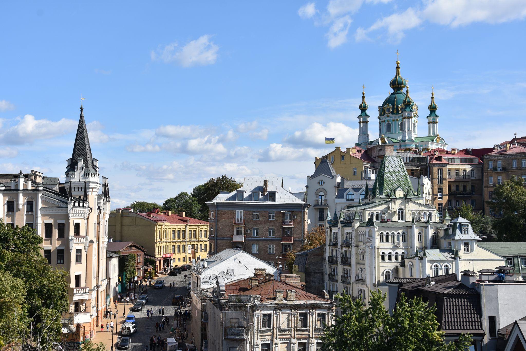 View over St. Andrew's descent, Ukraine