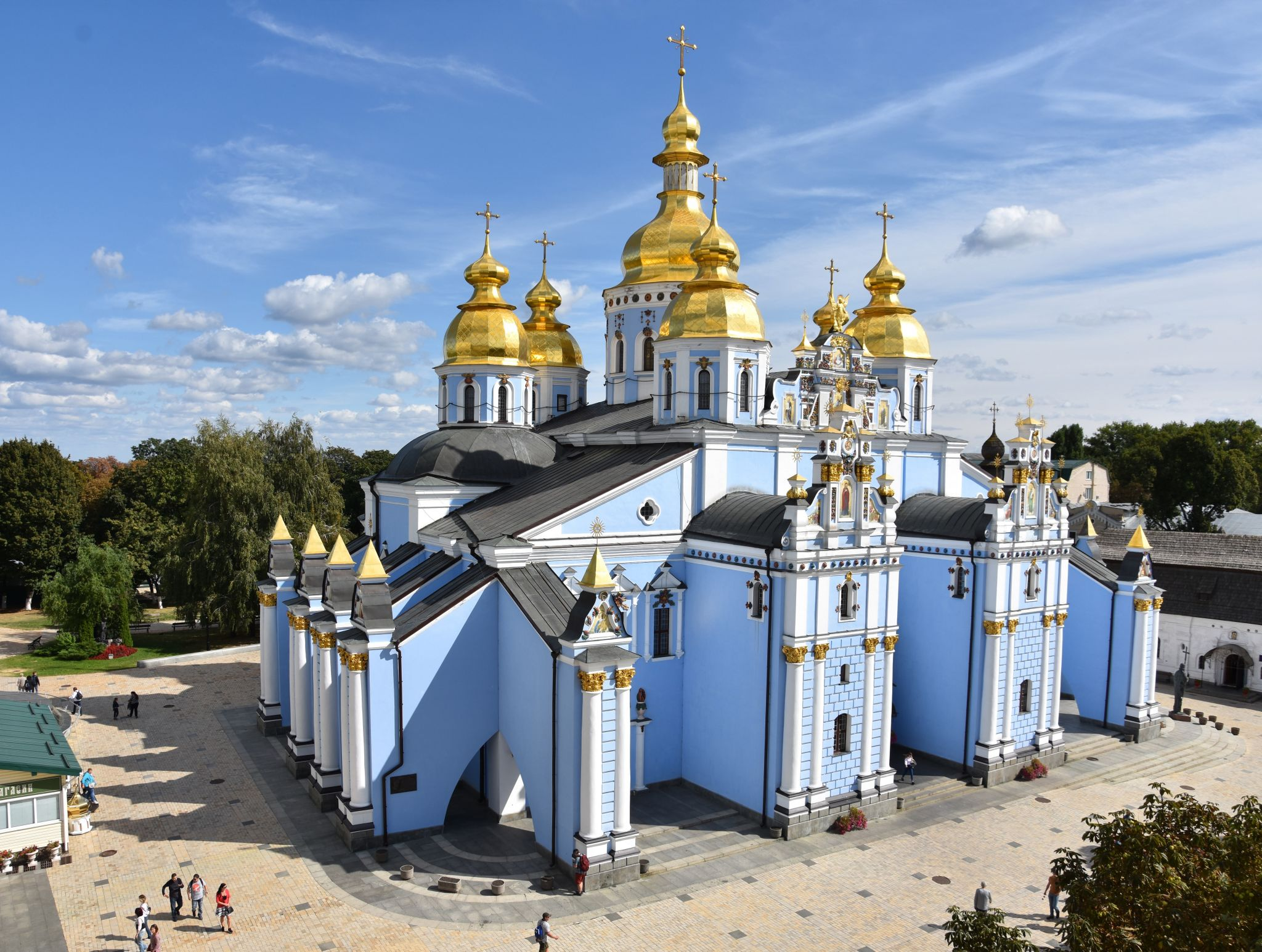 View over St. Michael's Cathedral from towerbell, Ukraine