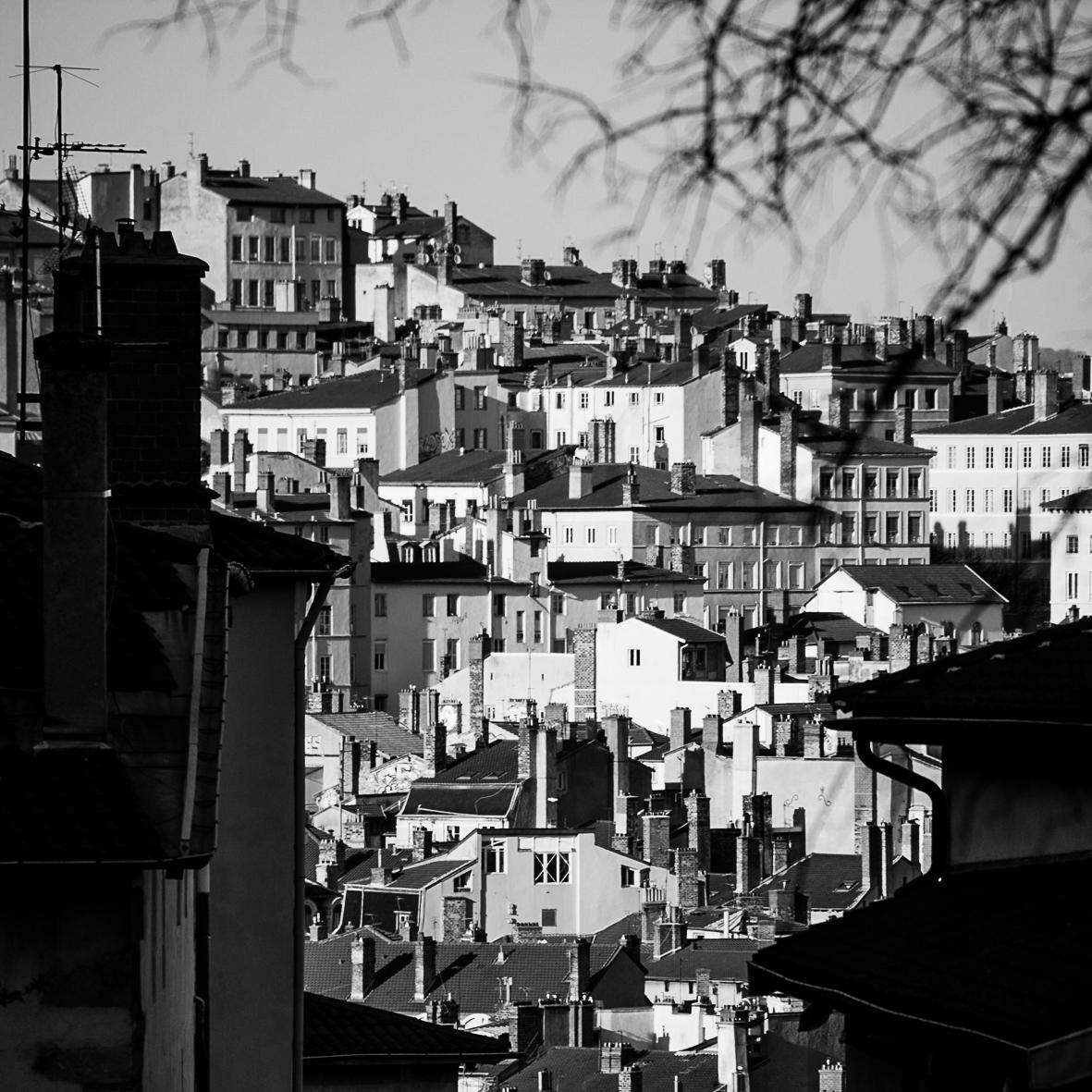 Vue sur les toits de Lyon, France