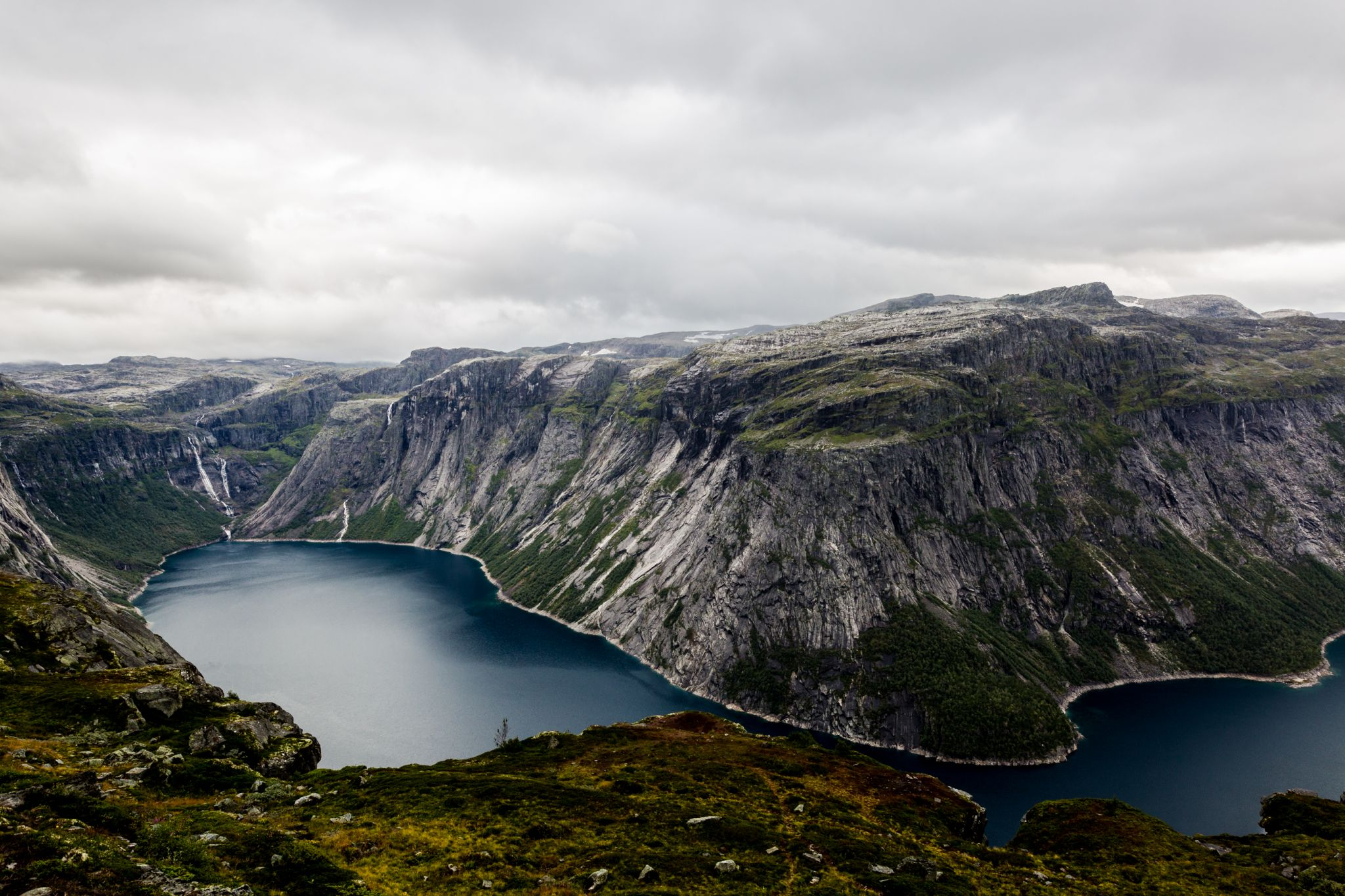 Waterfalls near Trolltunga/Norway, Norway