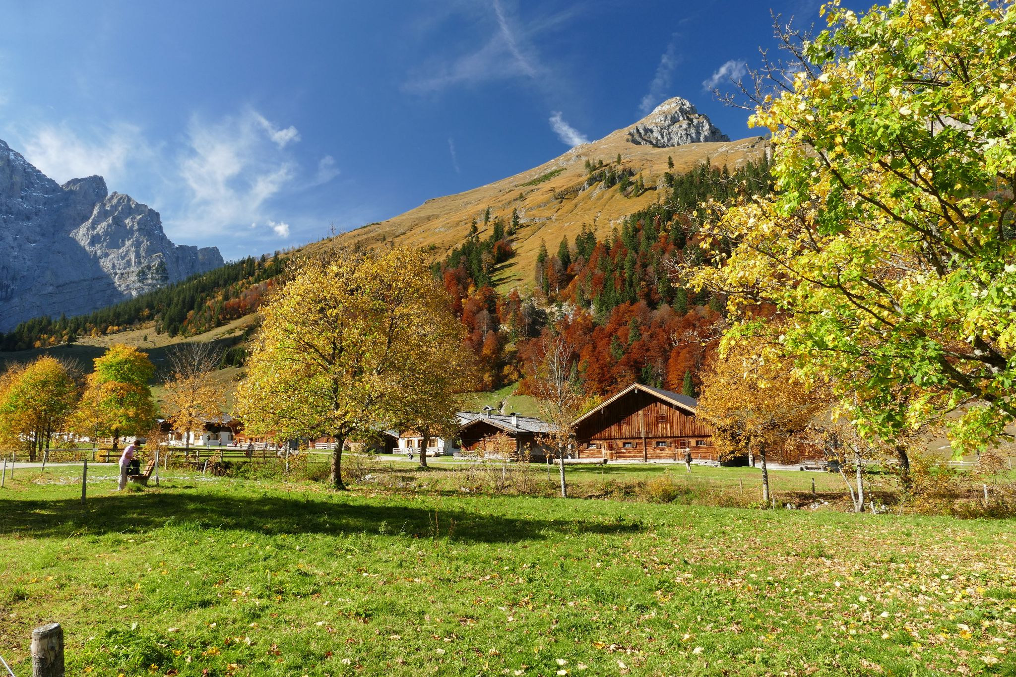 Ahornboden at indian summer, Austria