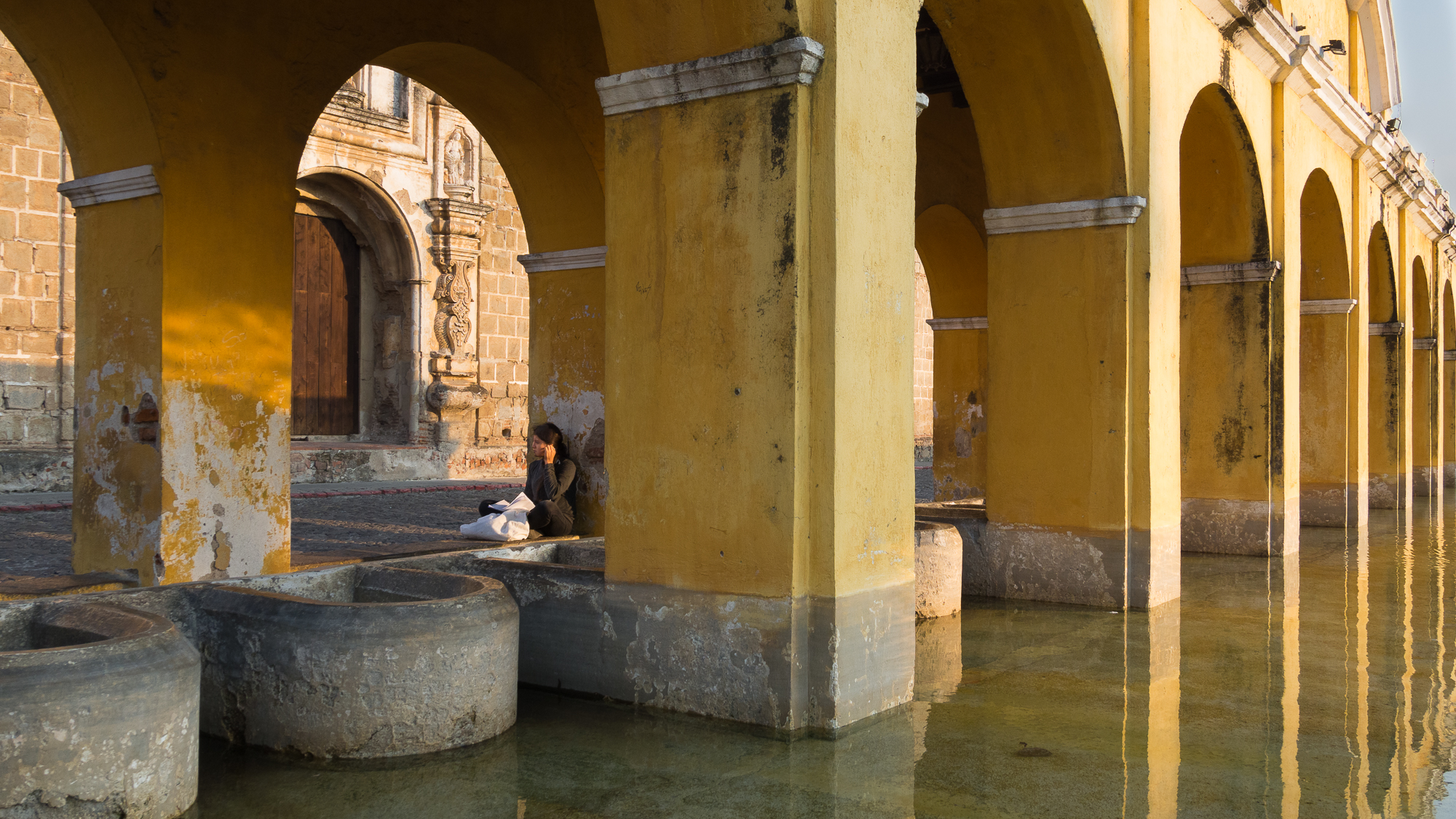 Antigua fountains, Guatemala