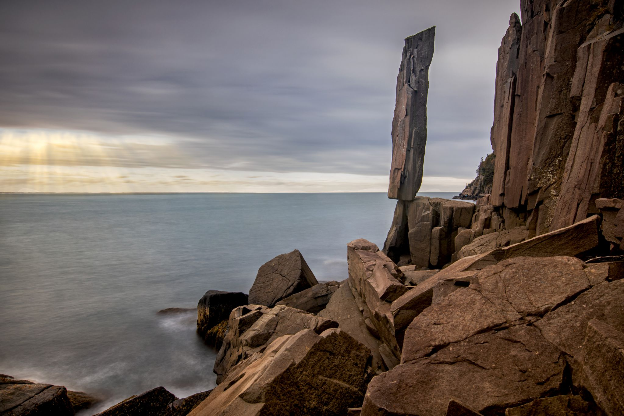 Balancing Rock, Nova Scotia, Canada