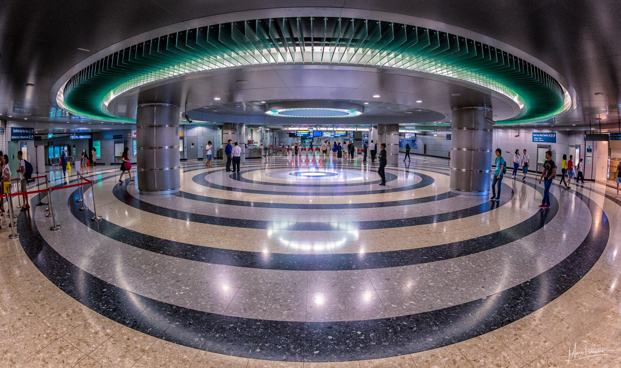 Bayfront metro entrance, Singapore