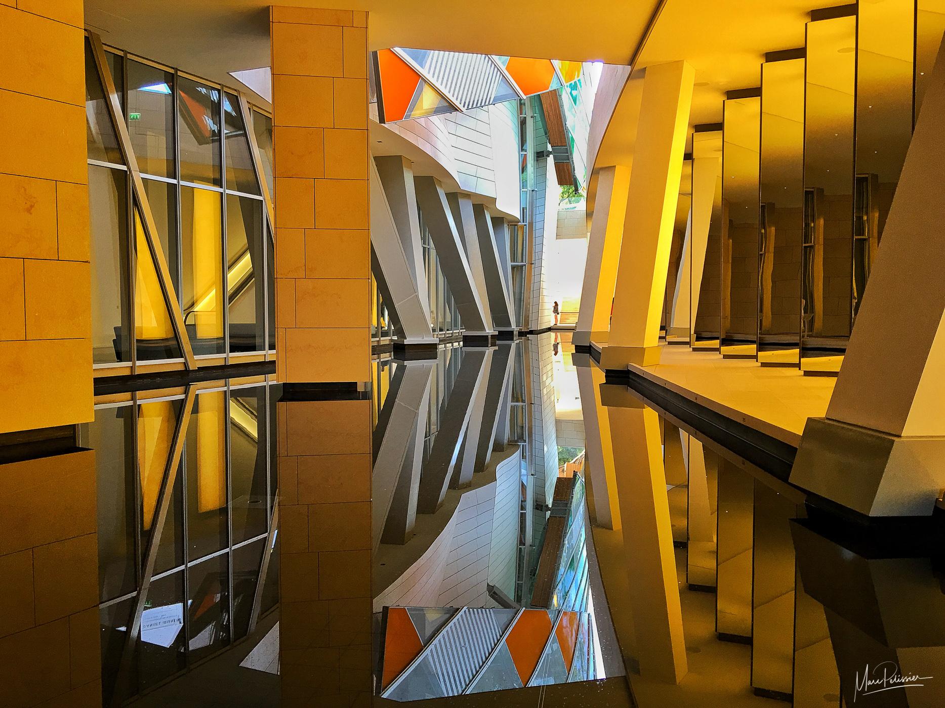 Below Louis Vuitton fondation, France