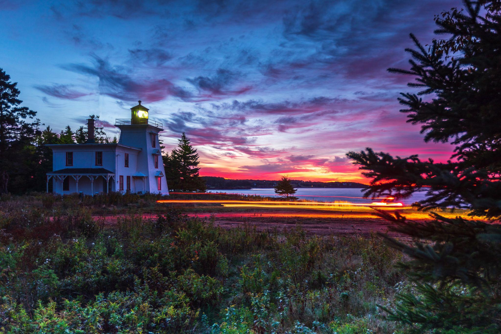 Blockhouse Point Lighthouse sunrise, Prince Edward Island, Canada