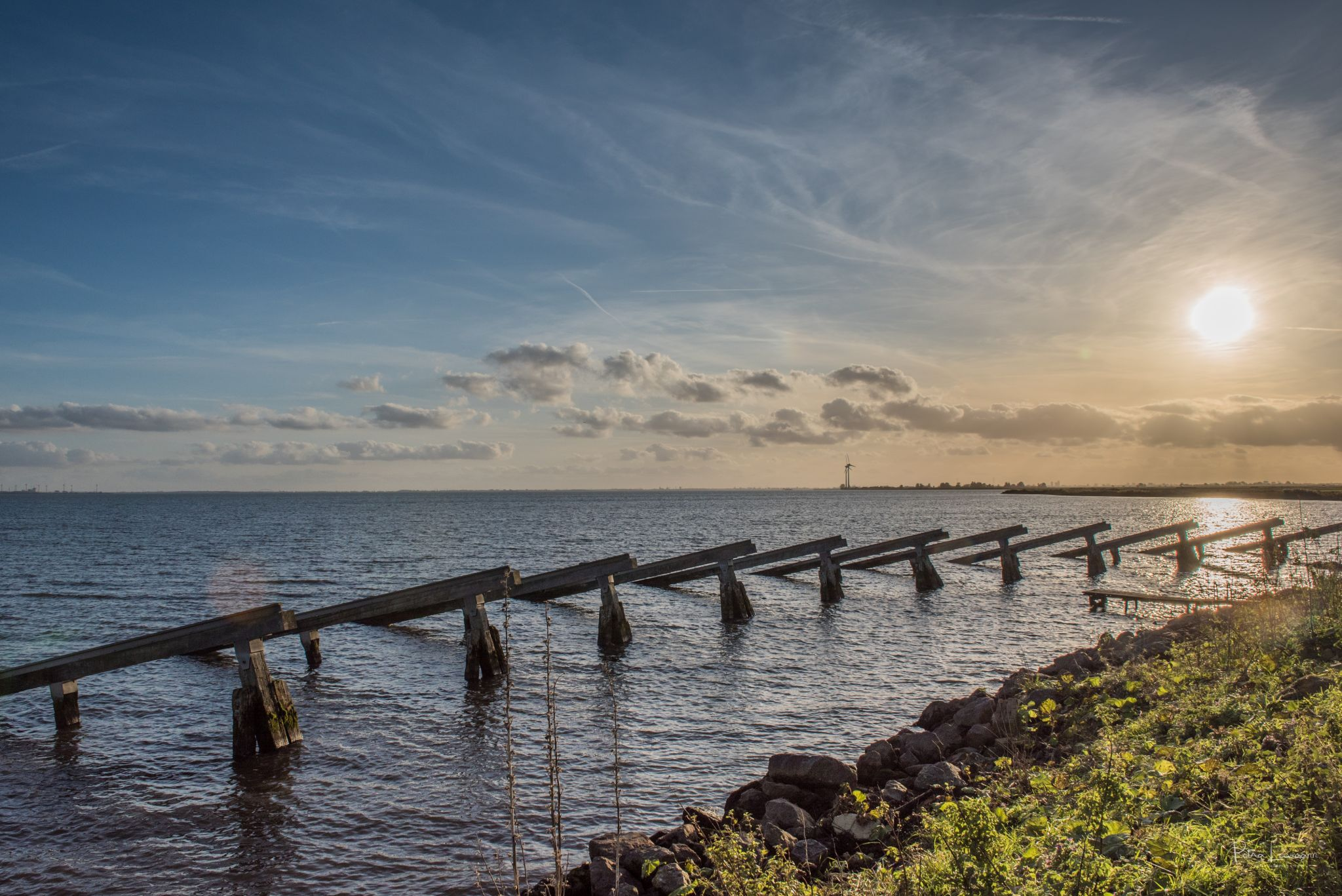 Breakwaters at Marken, NL, Netherlands