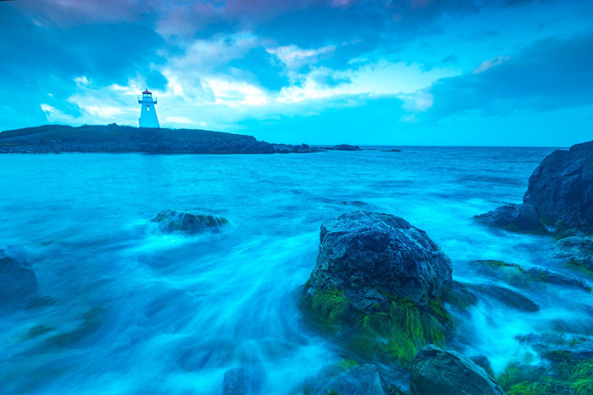 Cap Auget Lighthouse, Arichat, Isle Madame, Nova Scotia, Canada