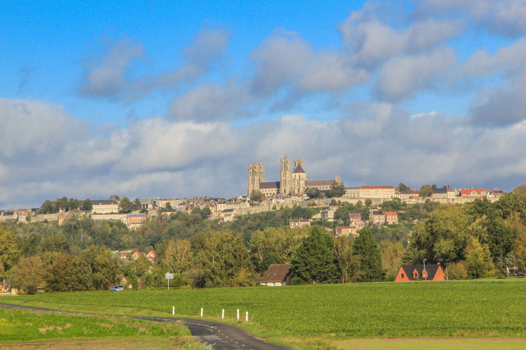 Cathedral and old town, Laon, France