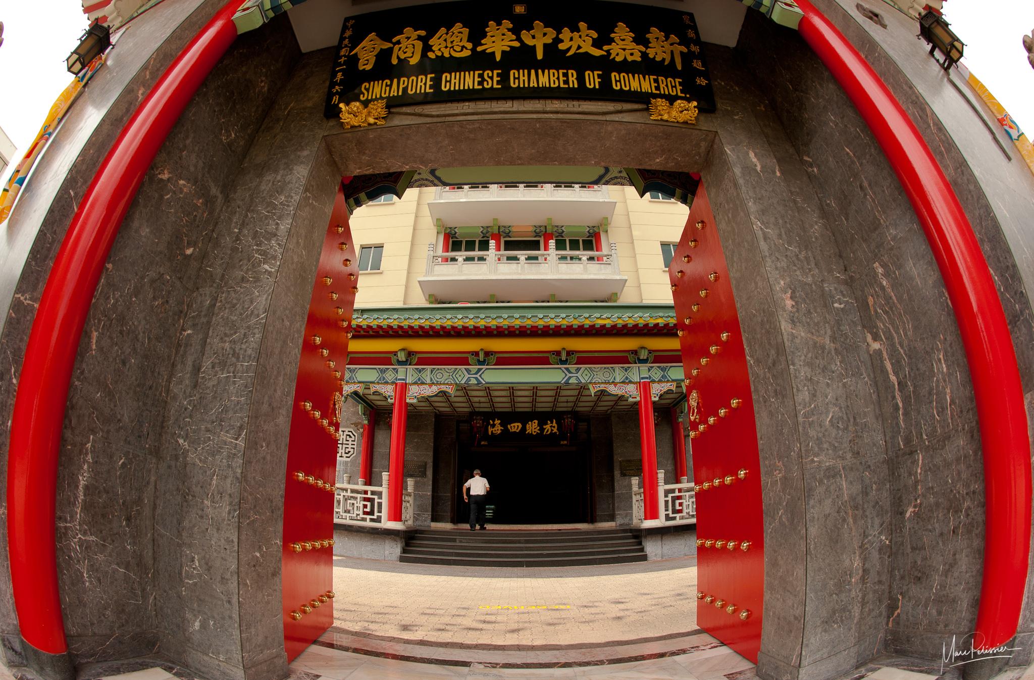 Chamber of commerce door, Singapore