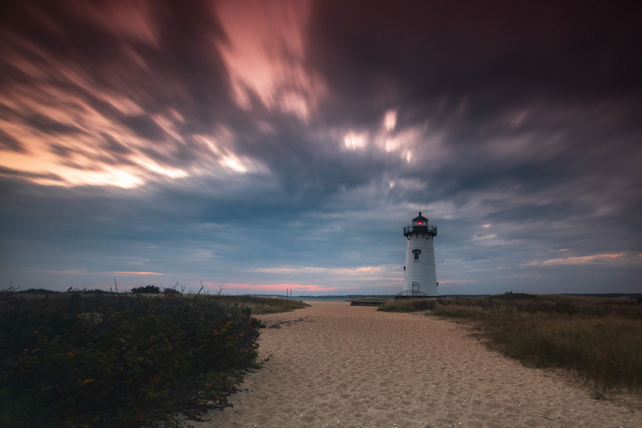 Egdartown Martha's Vineyard Island Lighthouse sunrise, USA