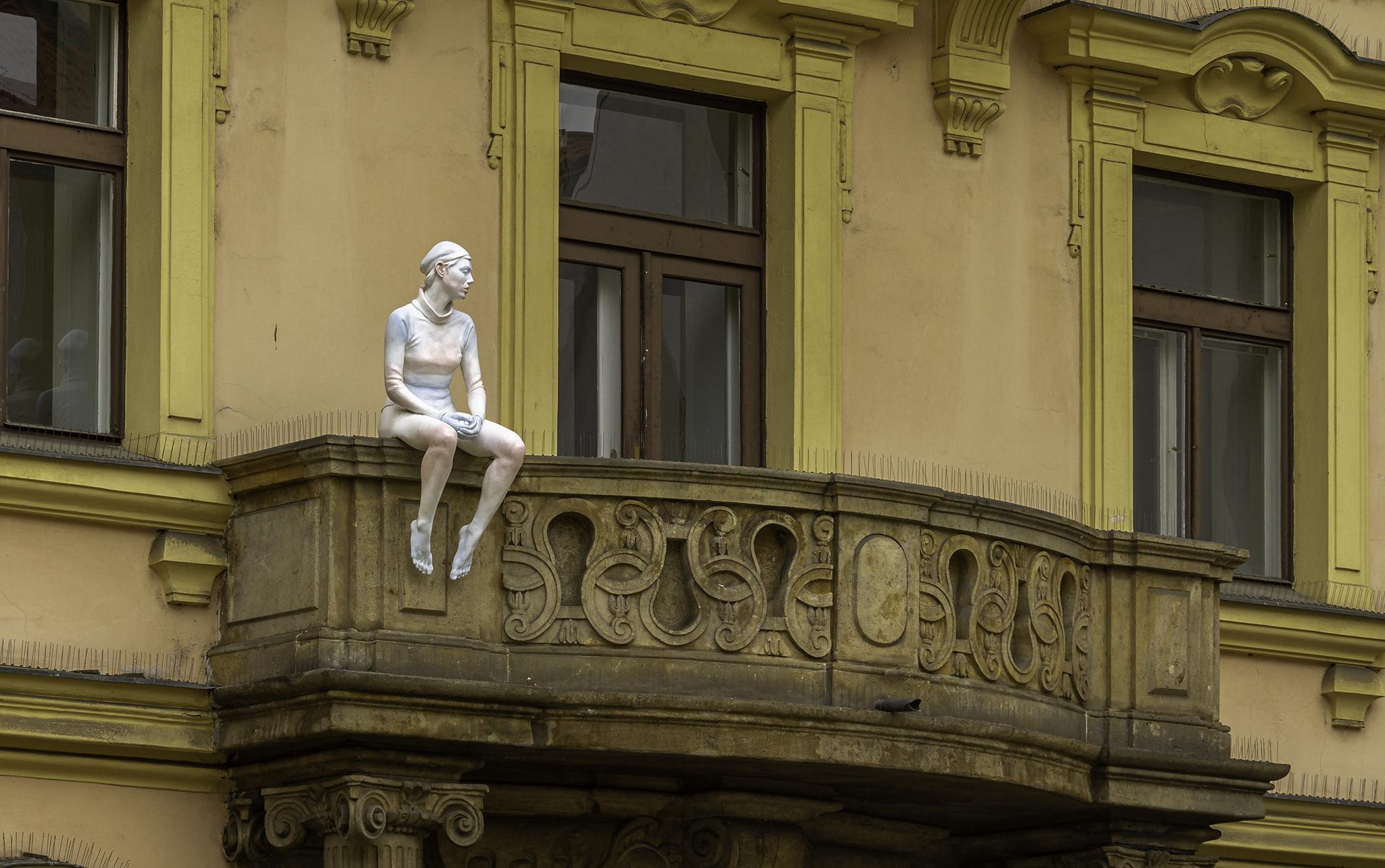 Franz Kafka Square, Prague, Czech Republic