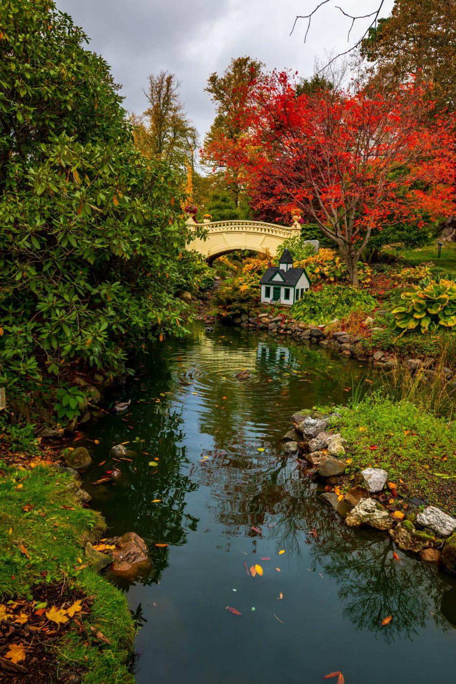 Halifax Public Gardens, bridge, Nova Scotia, Canada