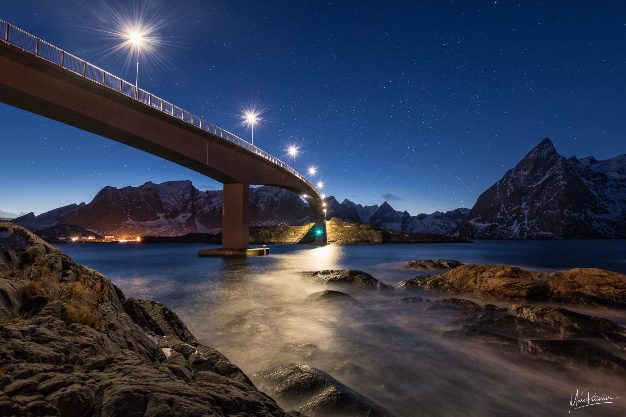 Under Hamnoy bridge, Norway
