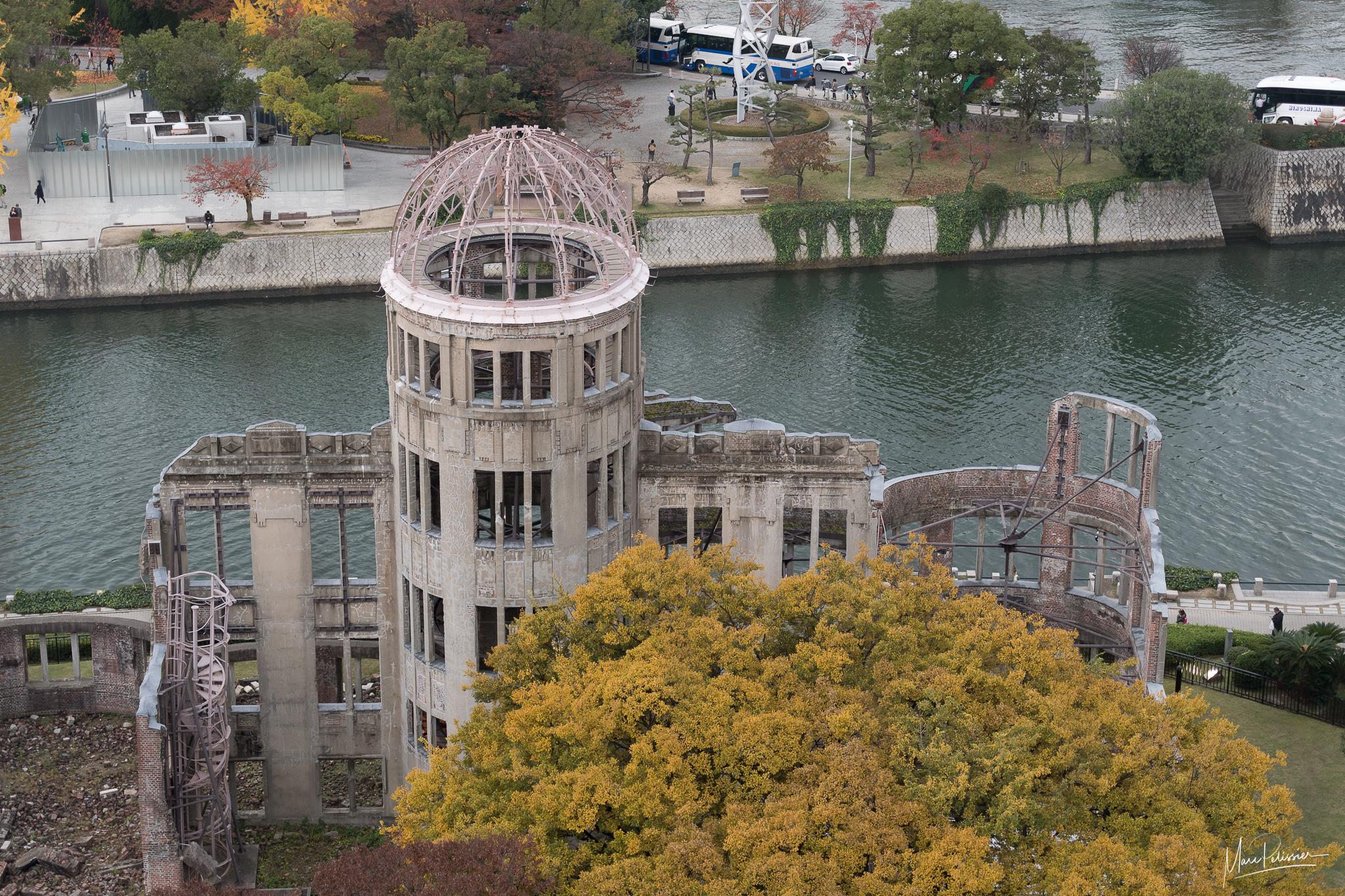 Hiroshima dome from Orizuru tower, Japan