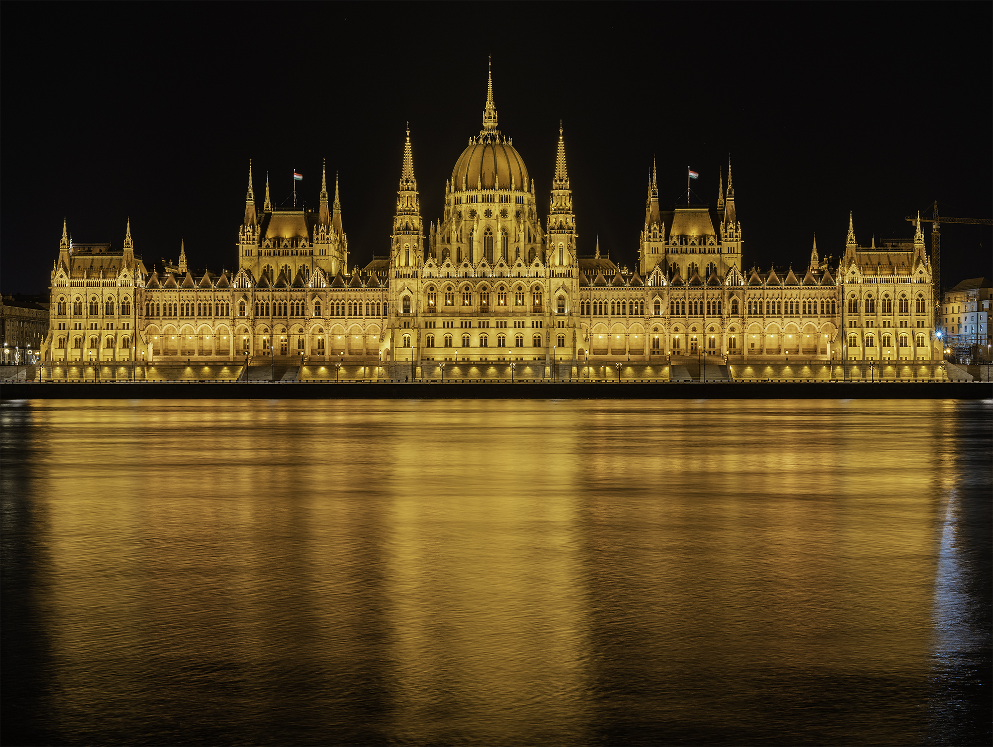 Hungarian Parliament Building from Buda, Budapest, Hungary