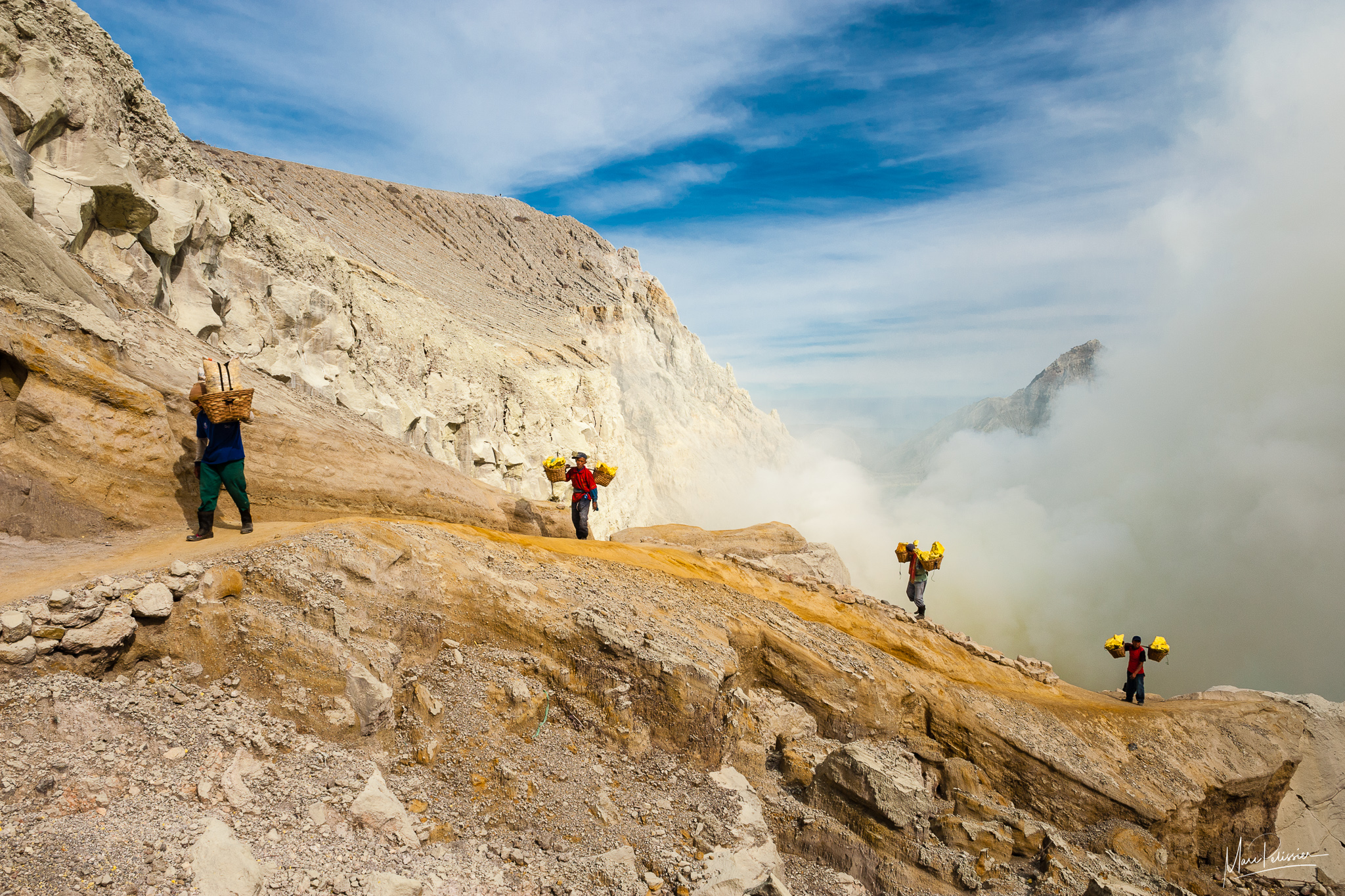 Into the Kawah Ijen crater, Indonesia