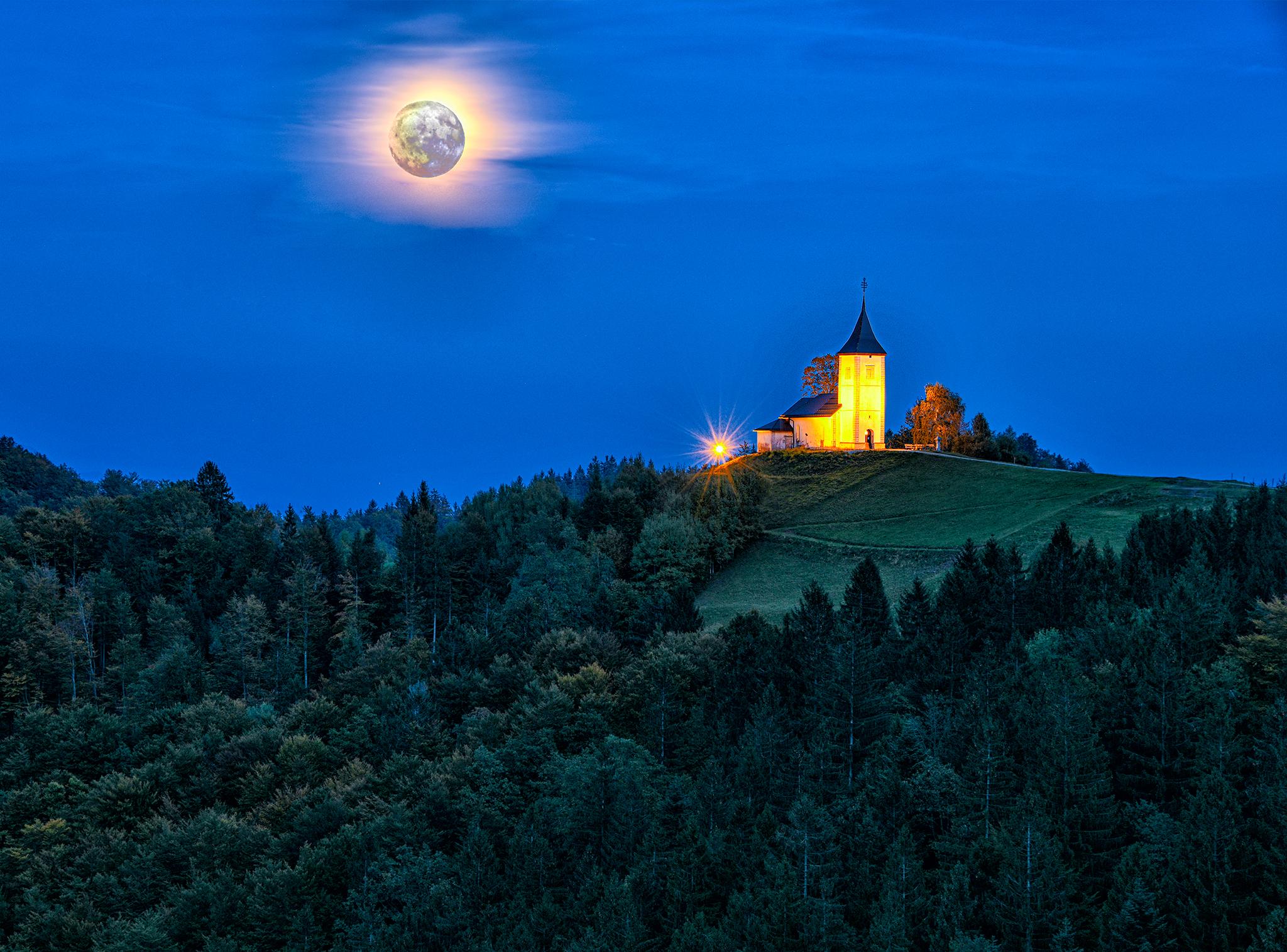 Jamnik church of St. Primoz and Felician, Slovenia