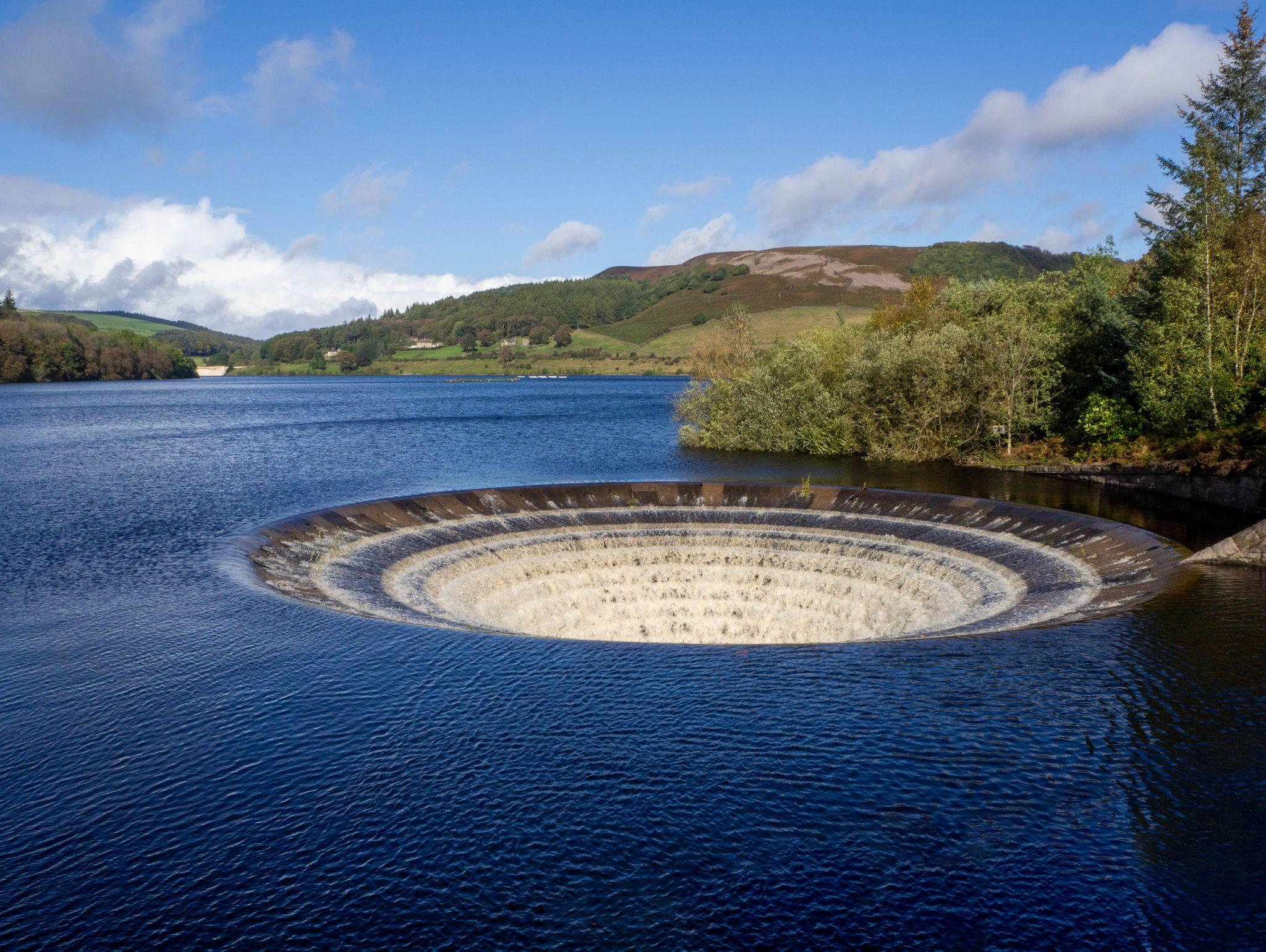 Ladybower Reservoir Plughole, United Kingdom