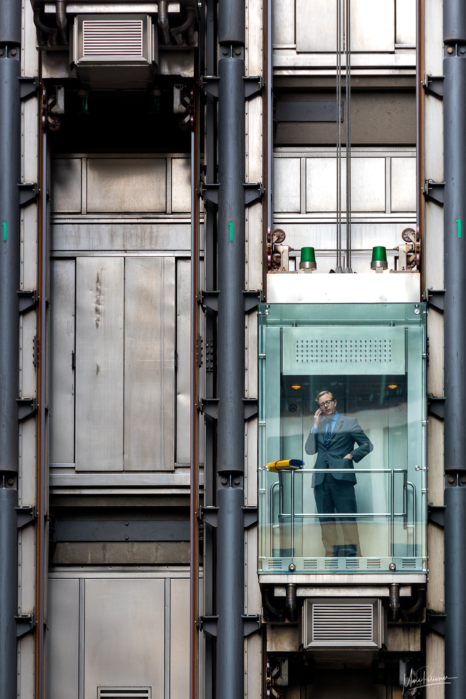 LIoyds elevators near leadenhall, United Kingdom