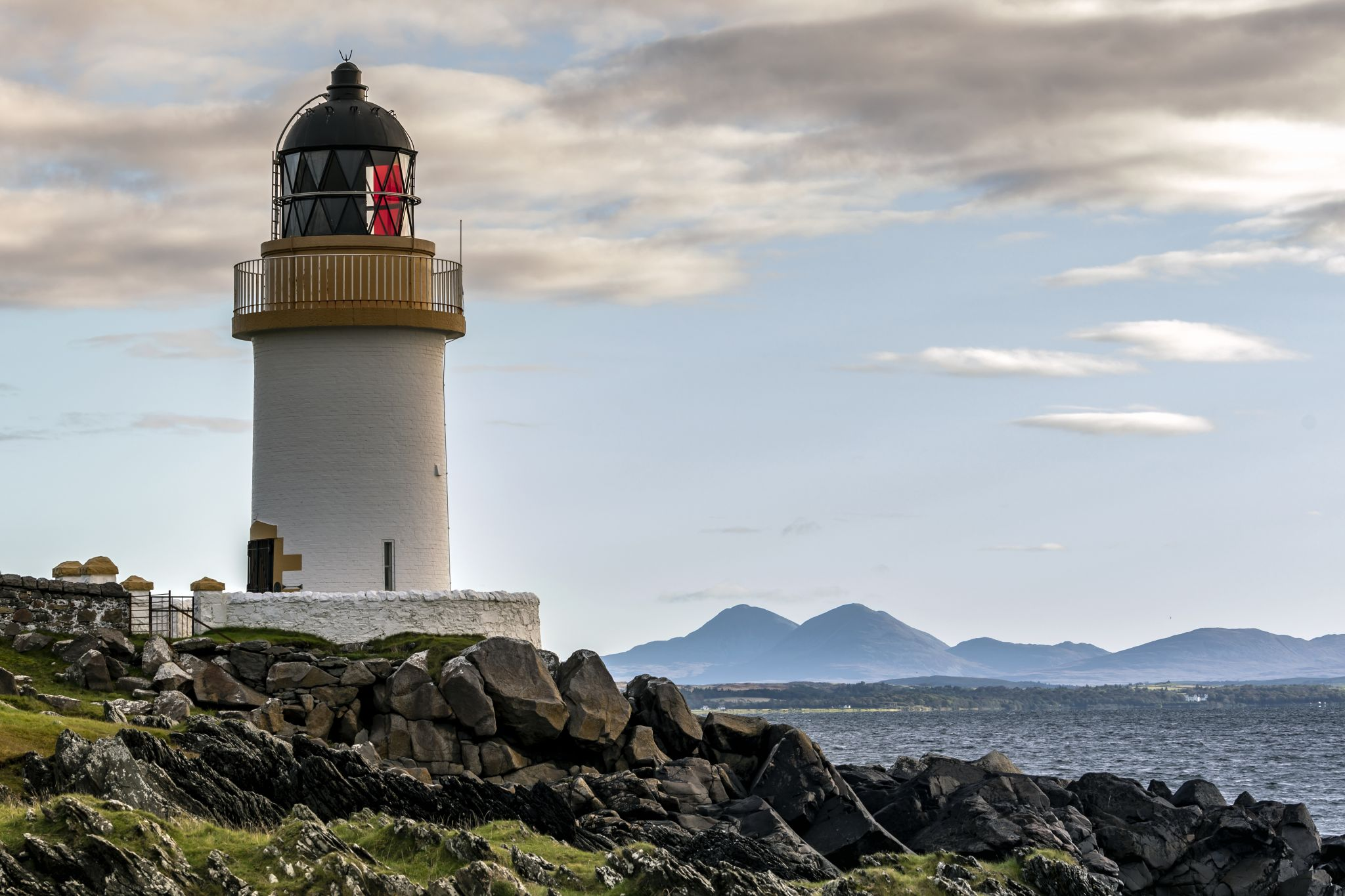 Loch Indaal (Rubh' an Duin) Lighthouse on the Isle of Islay, United Kingdom