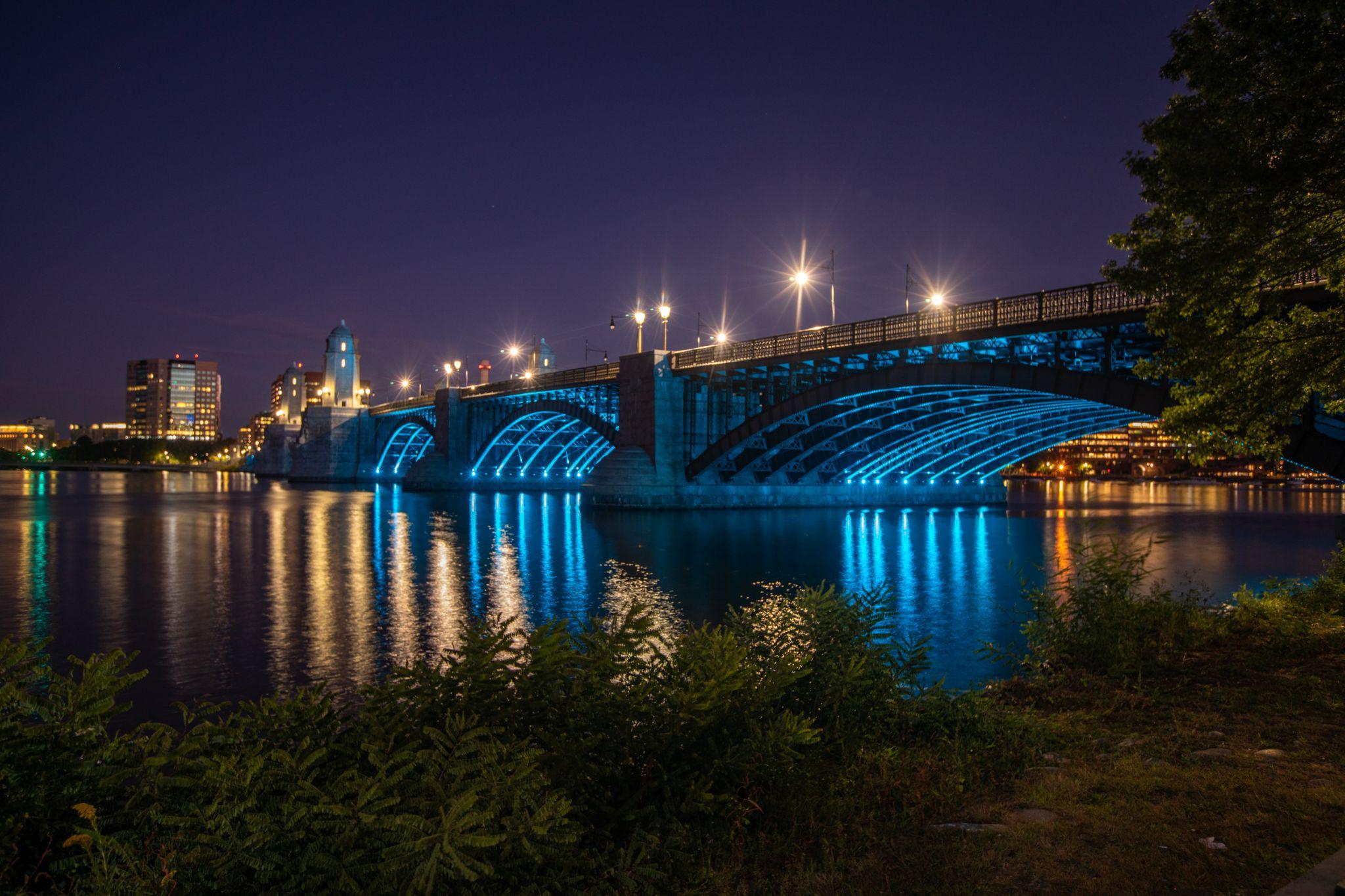 Longfellow Bridge Blue Hour Boston, USA