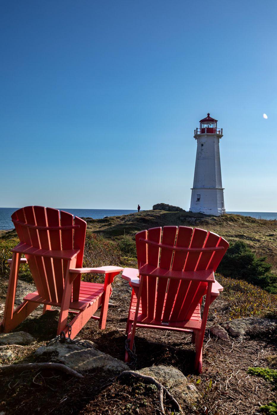 Louisbourg Lighthouse best seats Cape Breton Nova Scotia, Canada