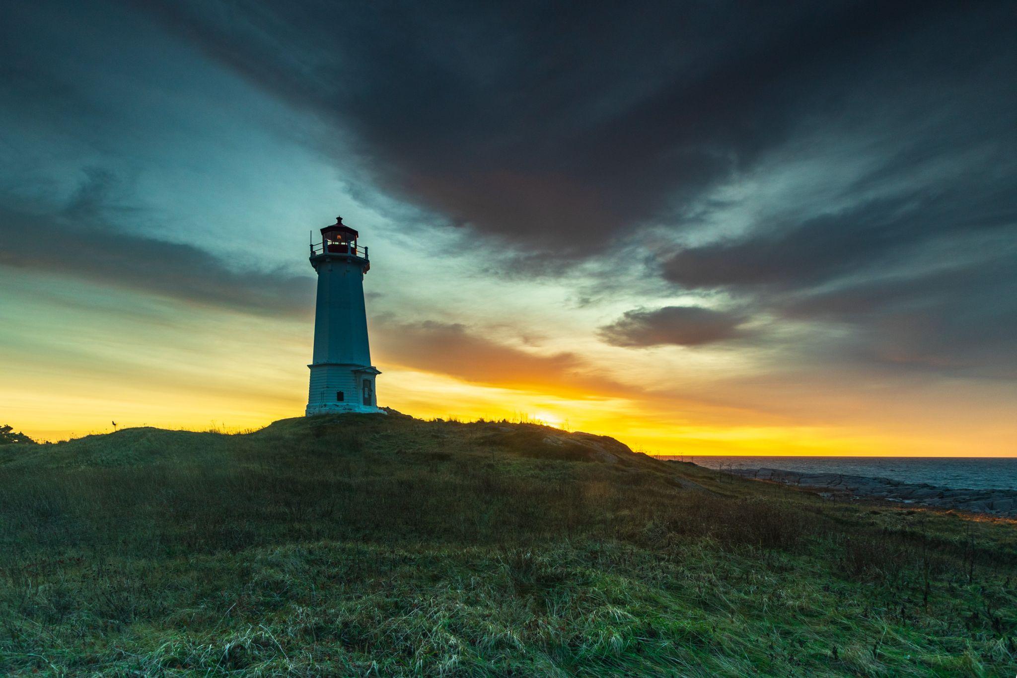 Louisbourg Lighthouse Cape Breton Nova Scotia, Canada