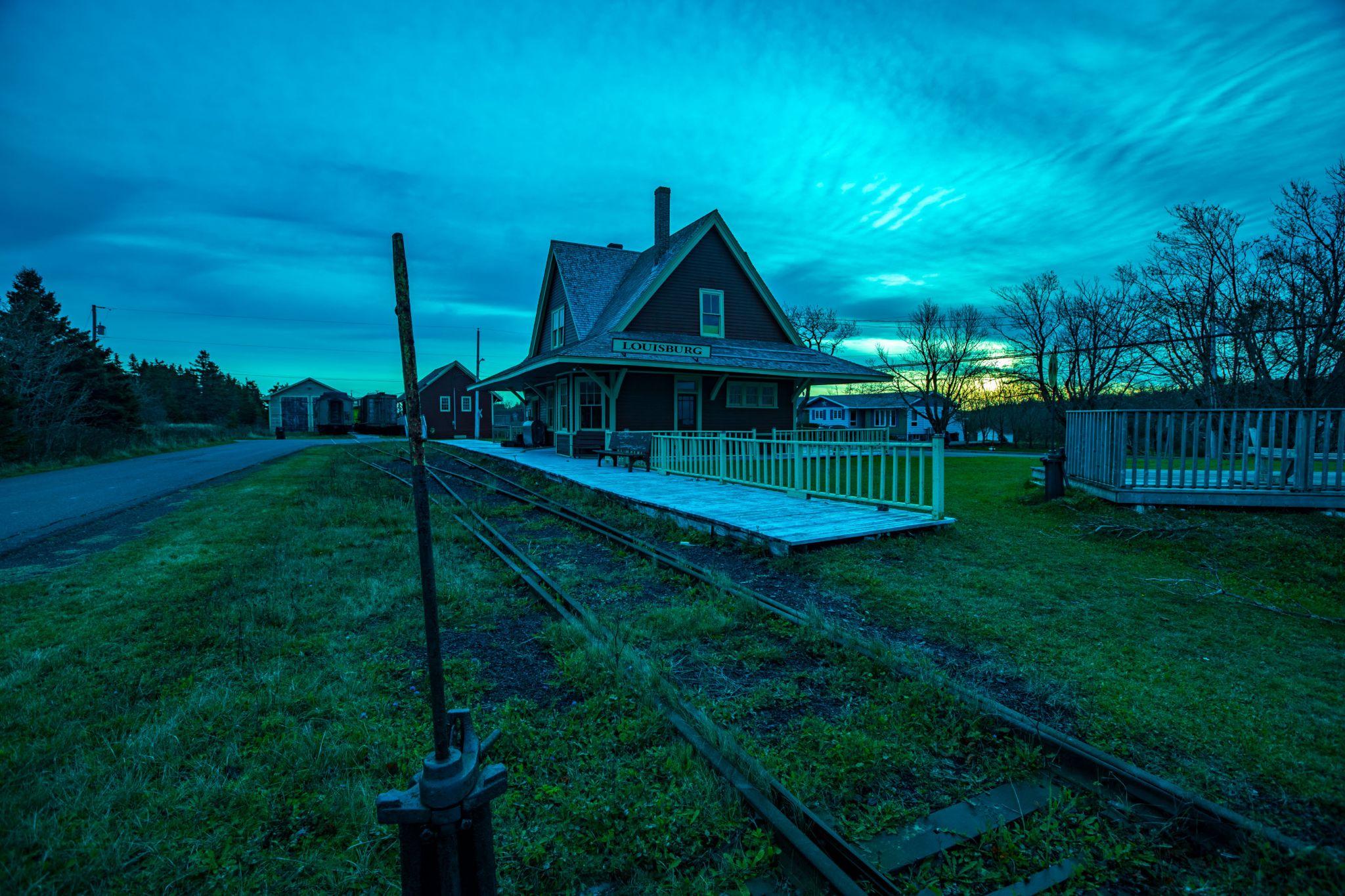 Louisbourg Station Museum sunrise Cape Brenton Nova Scotia, Canada