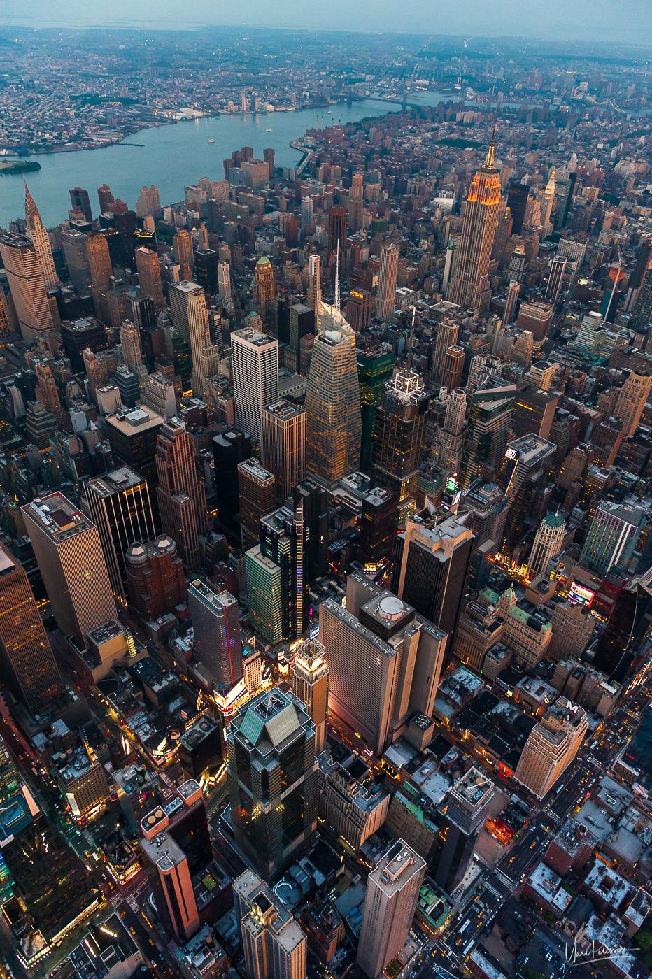 Manhattan Aerial near Top of the rock, USA