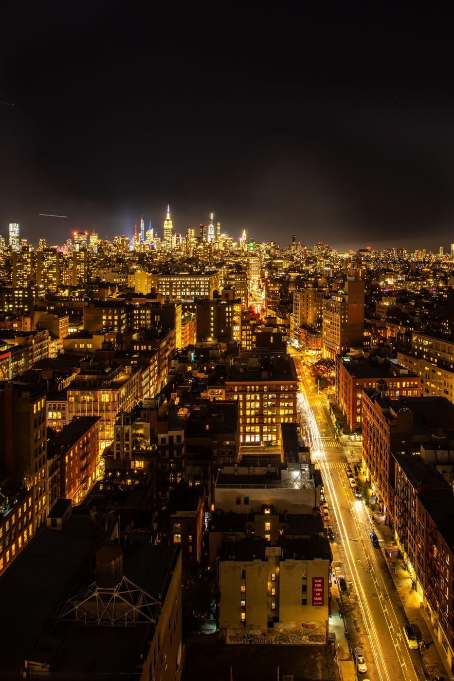Manhattan Skyline looking up Lafayette St, New York, USA