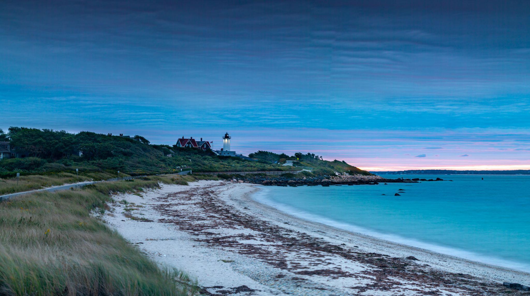 Nobska Lighthouse  sunrise Falmouth Cape Code, USA