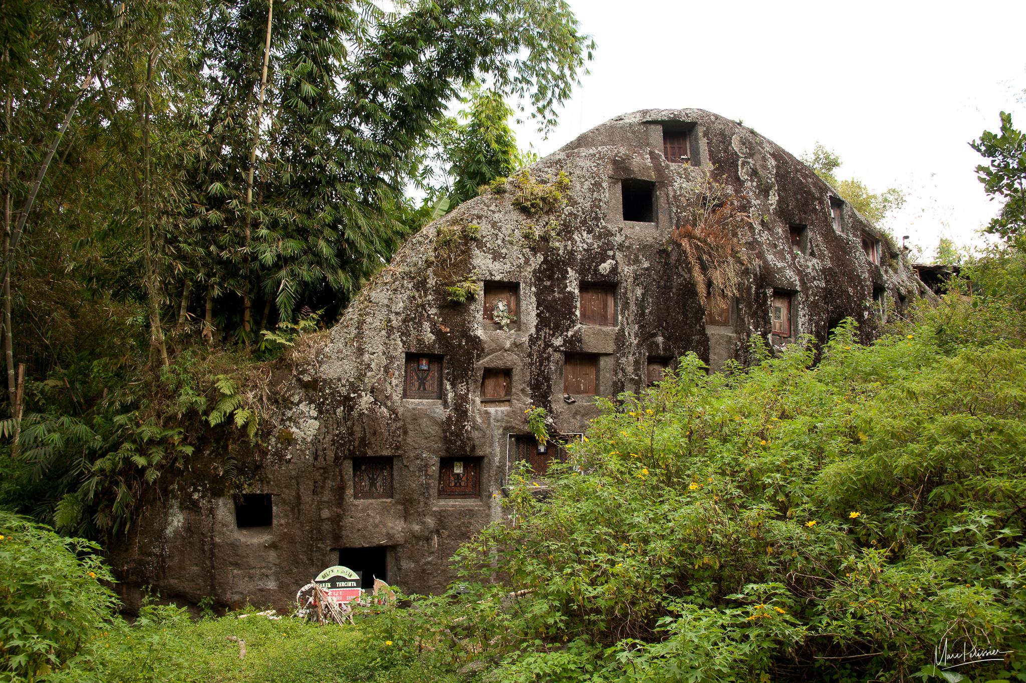 Pana child grave rock cemetery, Indonesia