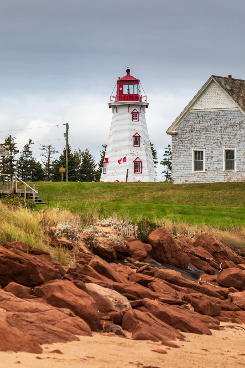 Panmure Island Lighthouse beach Prince Edward Island, Canada