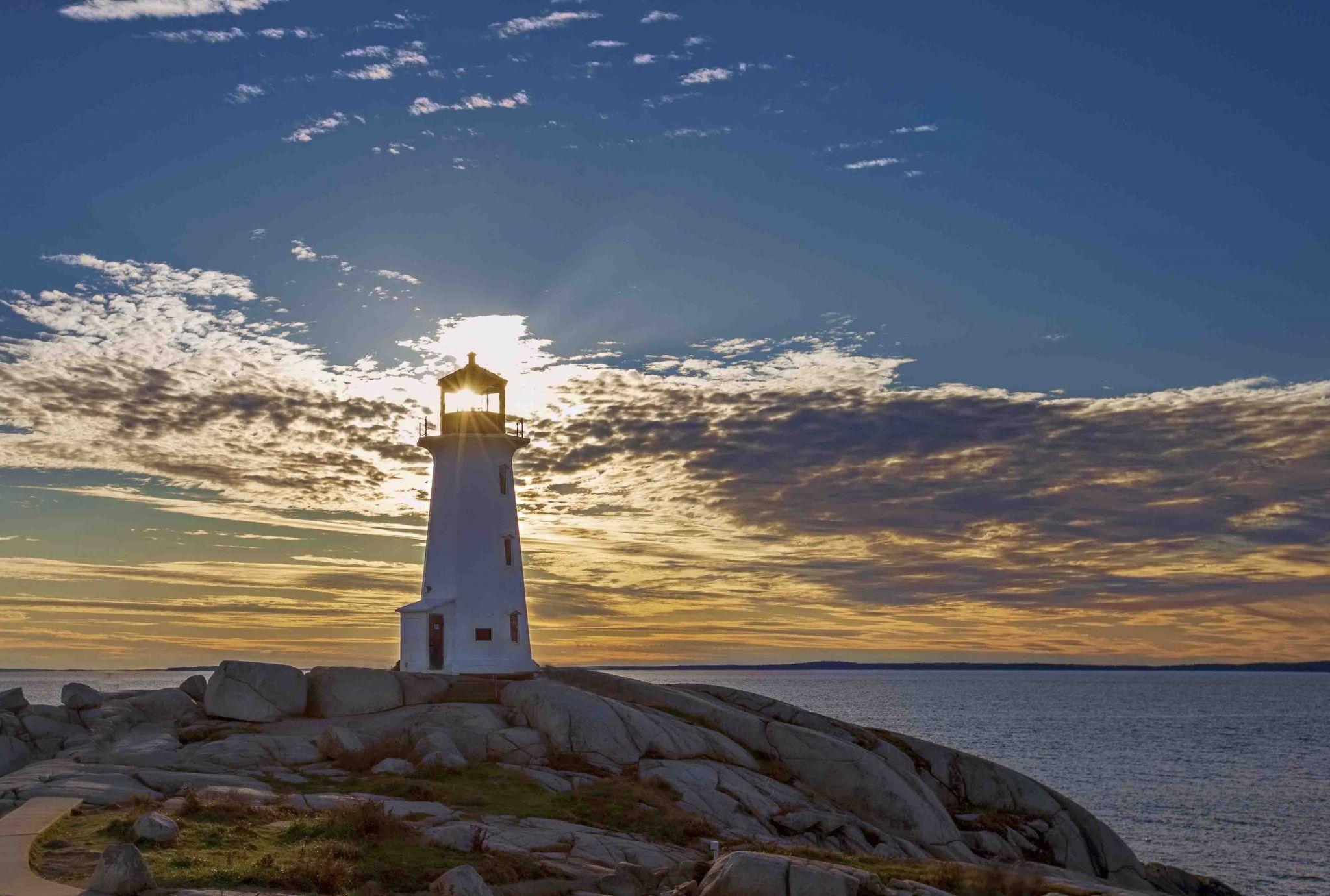 Peggy's Cove Lighthouse in Nova Scotia, Canada