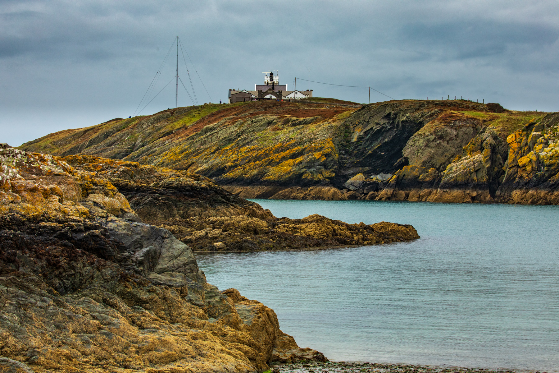 Point Lynas Lighthouse from the beach Wales, United Kingdom