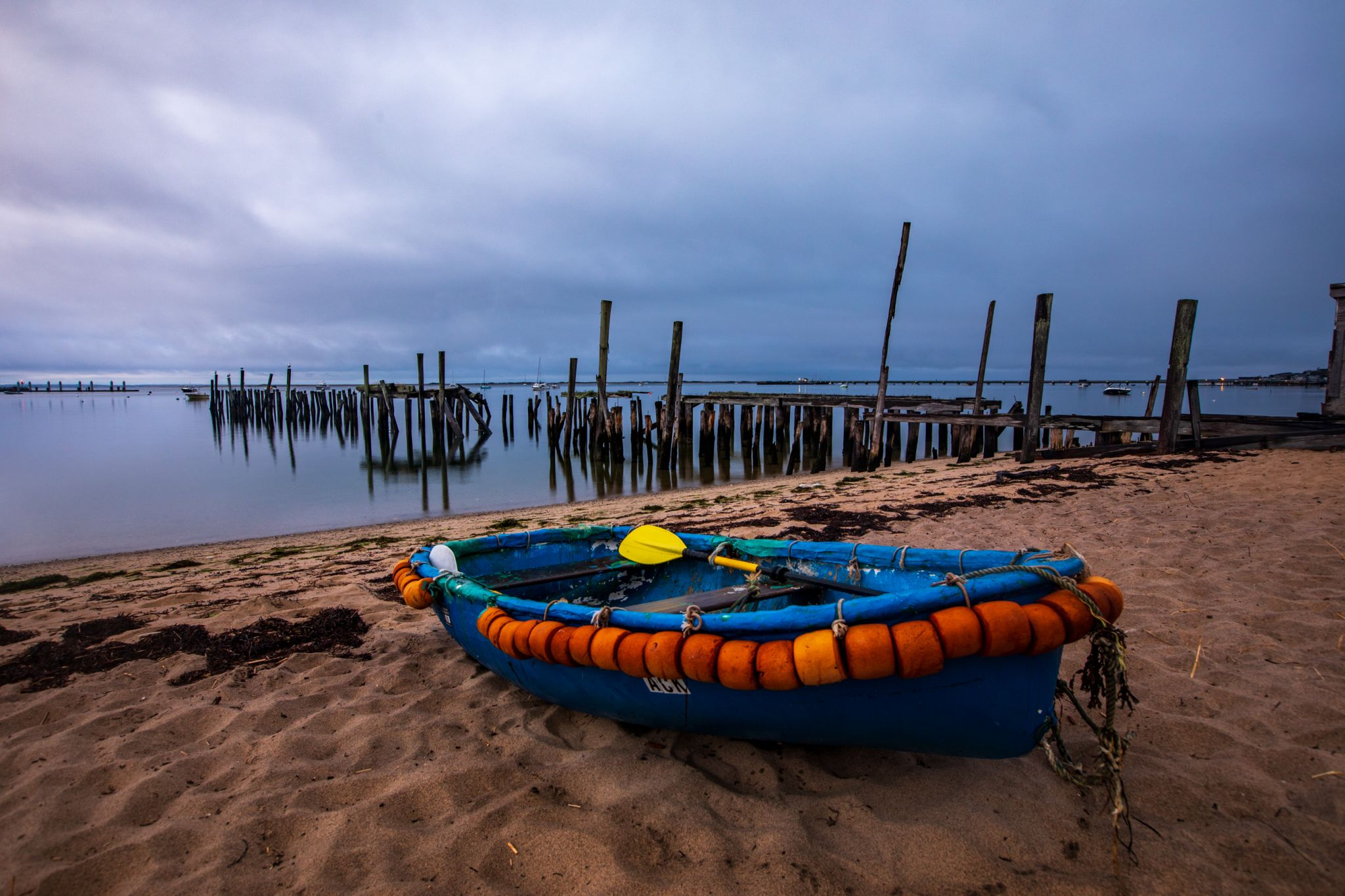Providencetown Boat and disused pier / Jetty, Cape Cod, USA